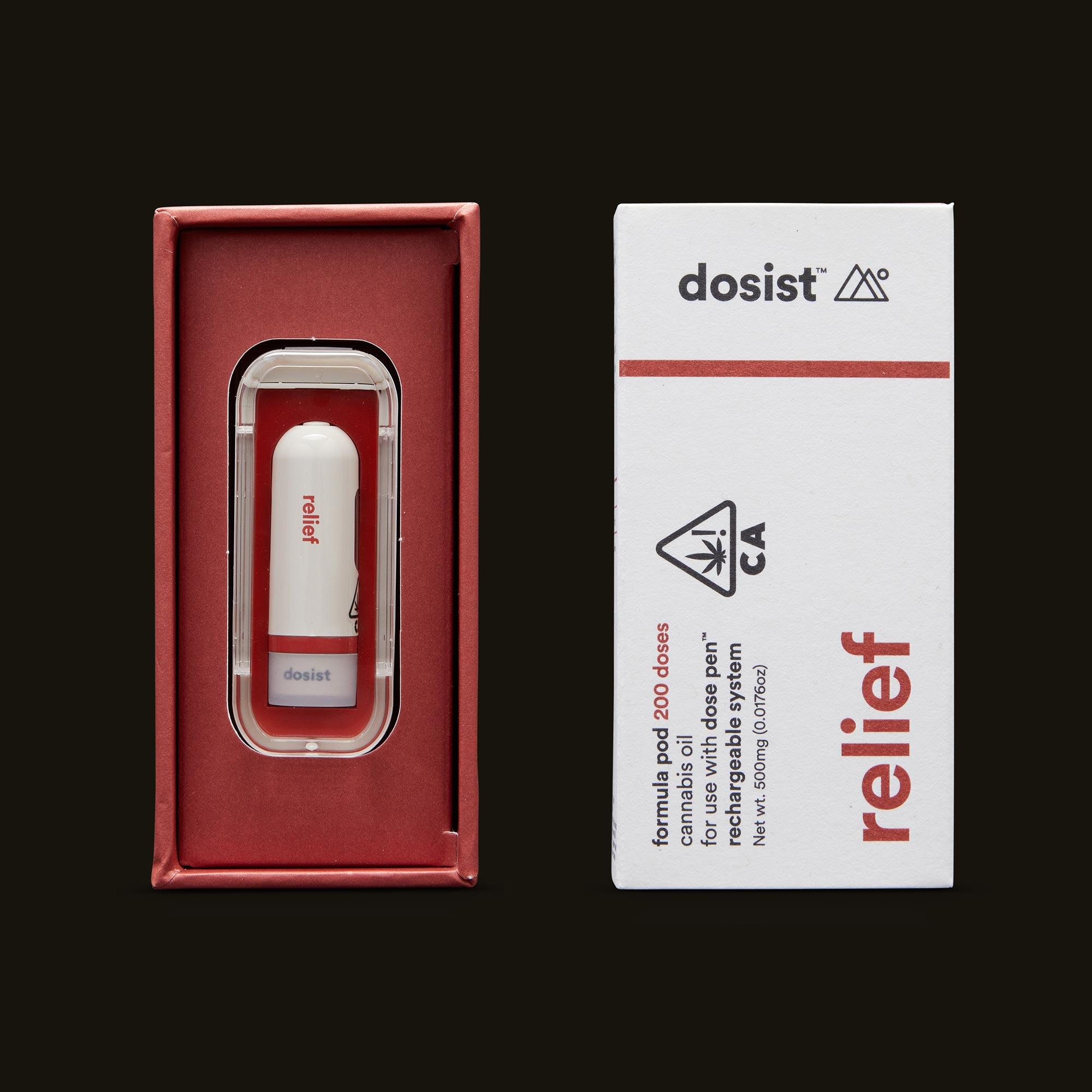 dosist relief formula pod open box