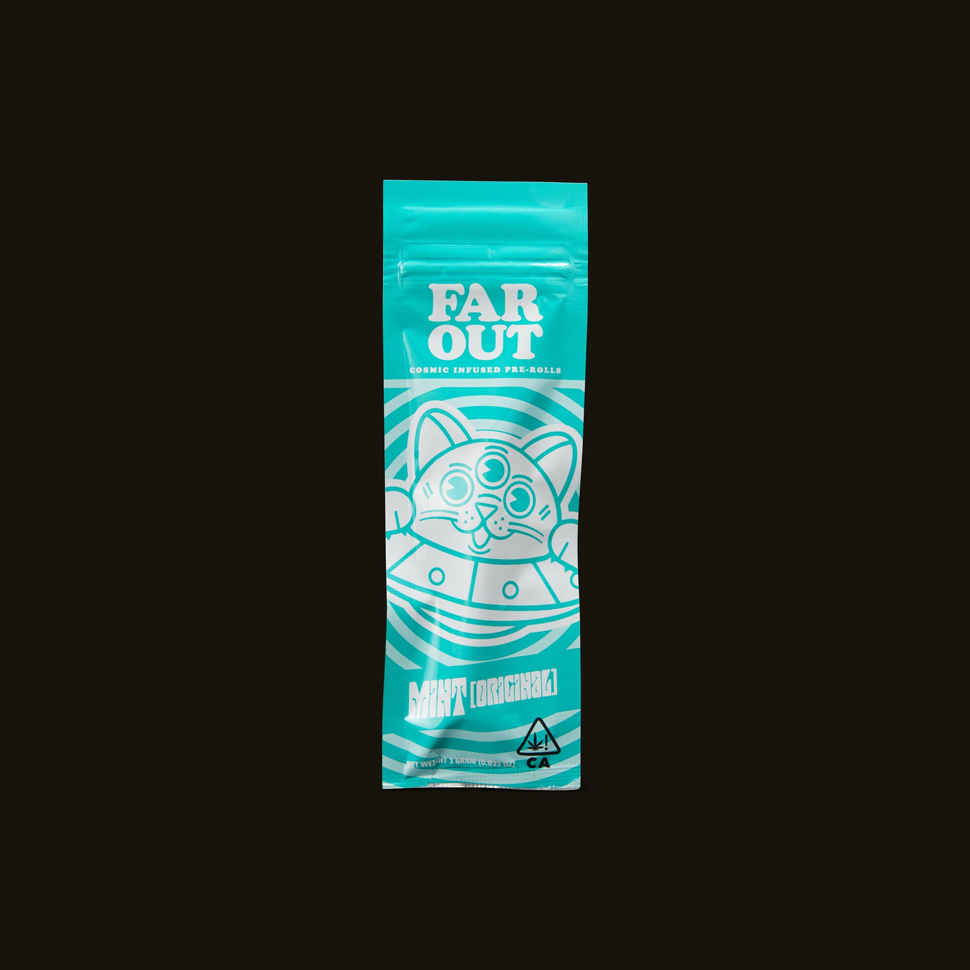 Far Out Mint Infused Pre-Roll Front Packaging