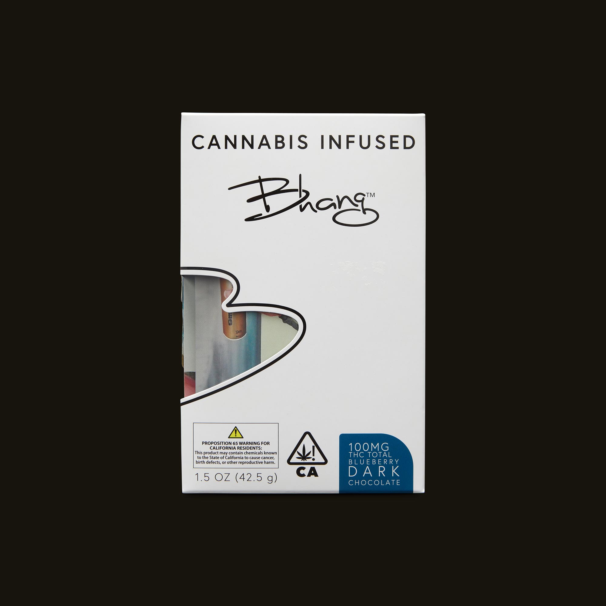 Bhang Blueberry Dark Chocolate Front Packaging