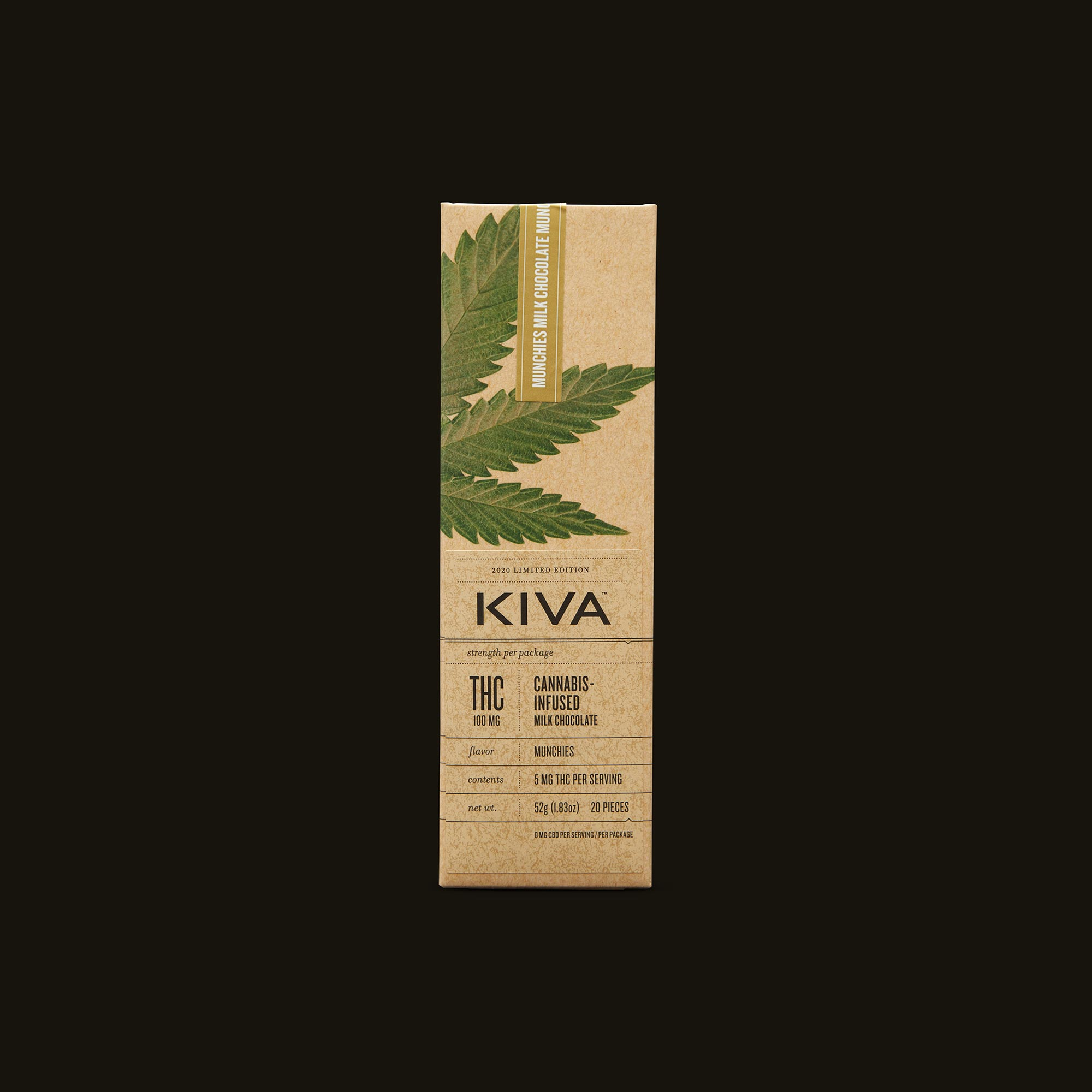 Kiva Confections Milk Chocolate Fruity Flakes Munchies Bar Inner Front Packaging