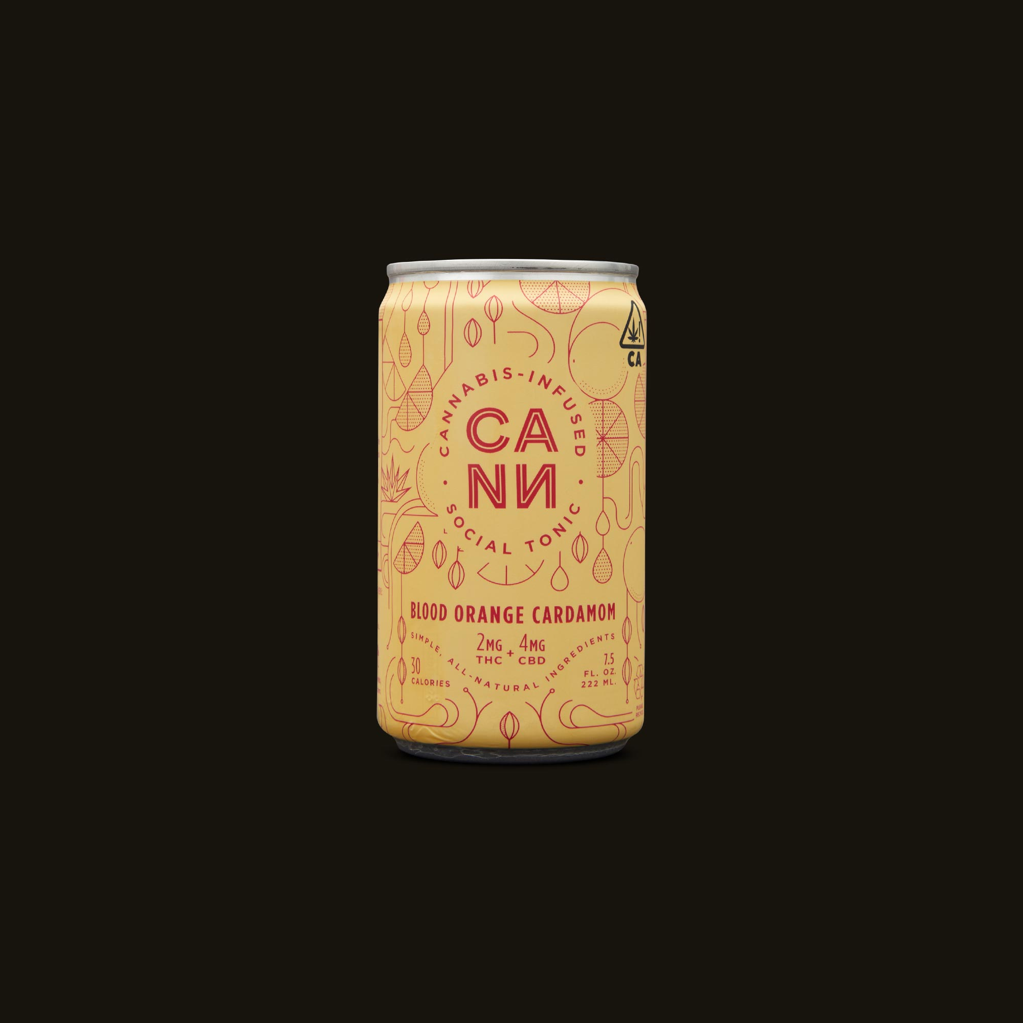 Cann Blood Orange Cardamom Social Tonic Front Can