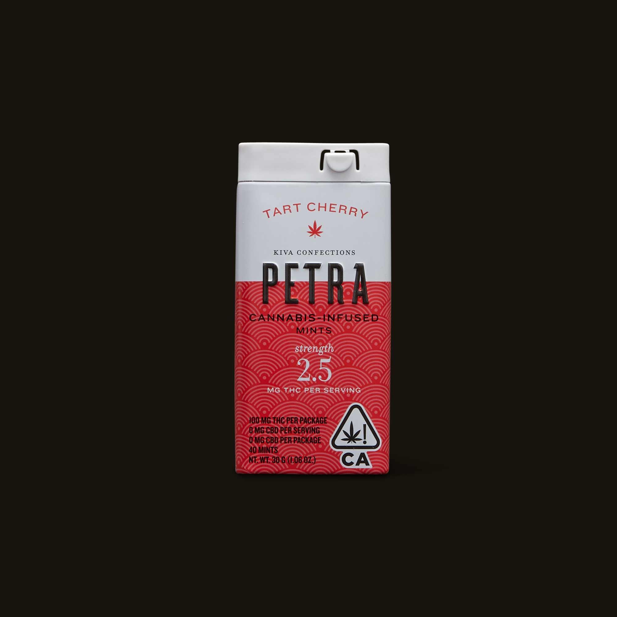 Petra Tart Cherry Mints - 40 mints (100mg THC)