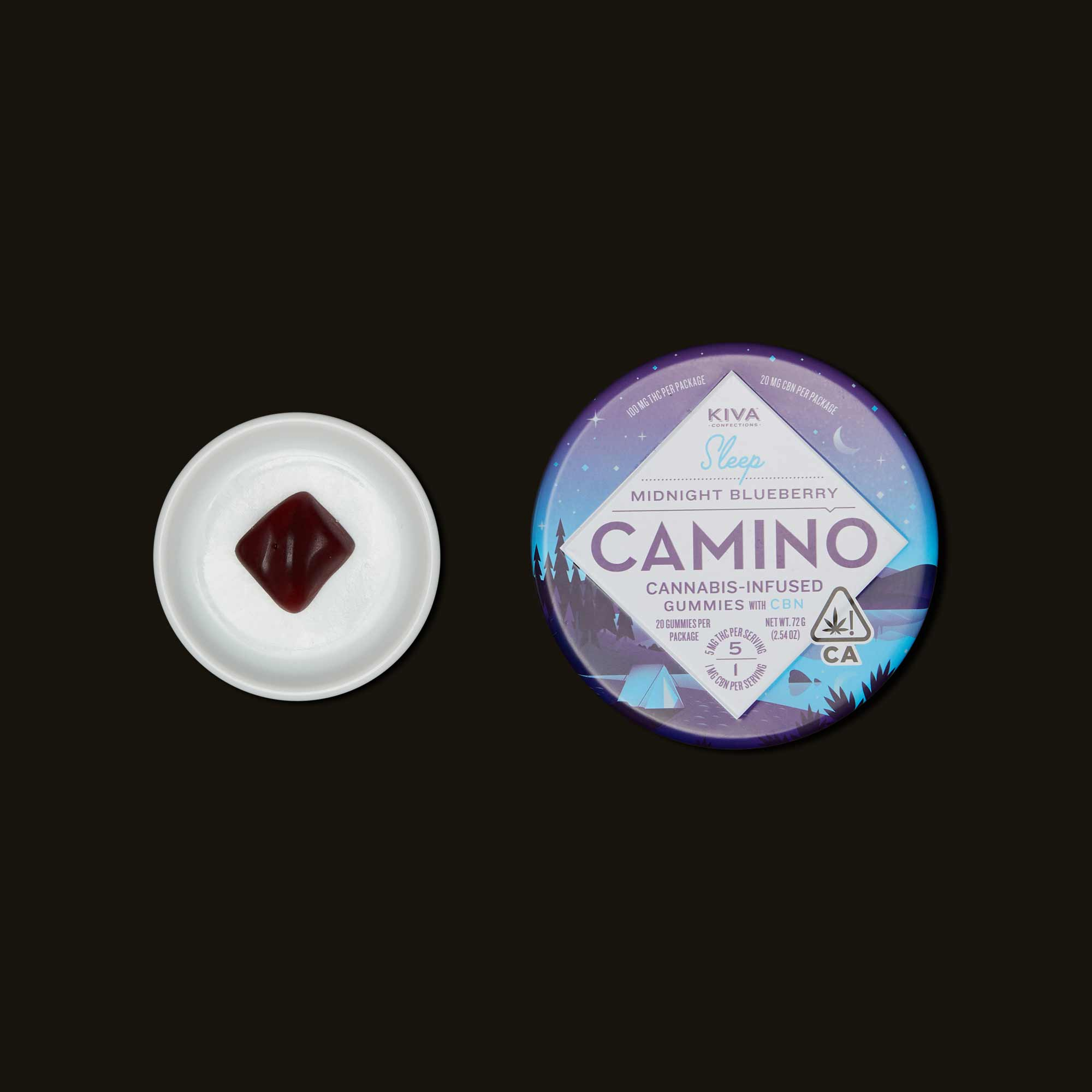 Kiva Confections Camino Midnight Blueberry Gummies