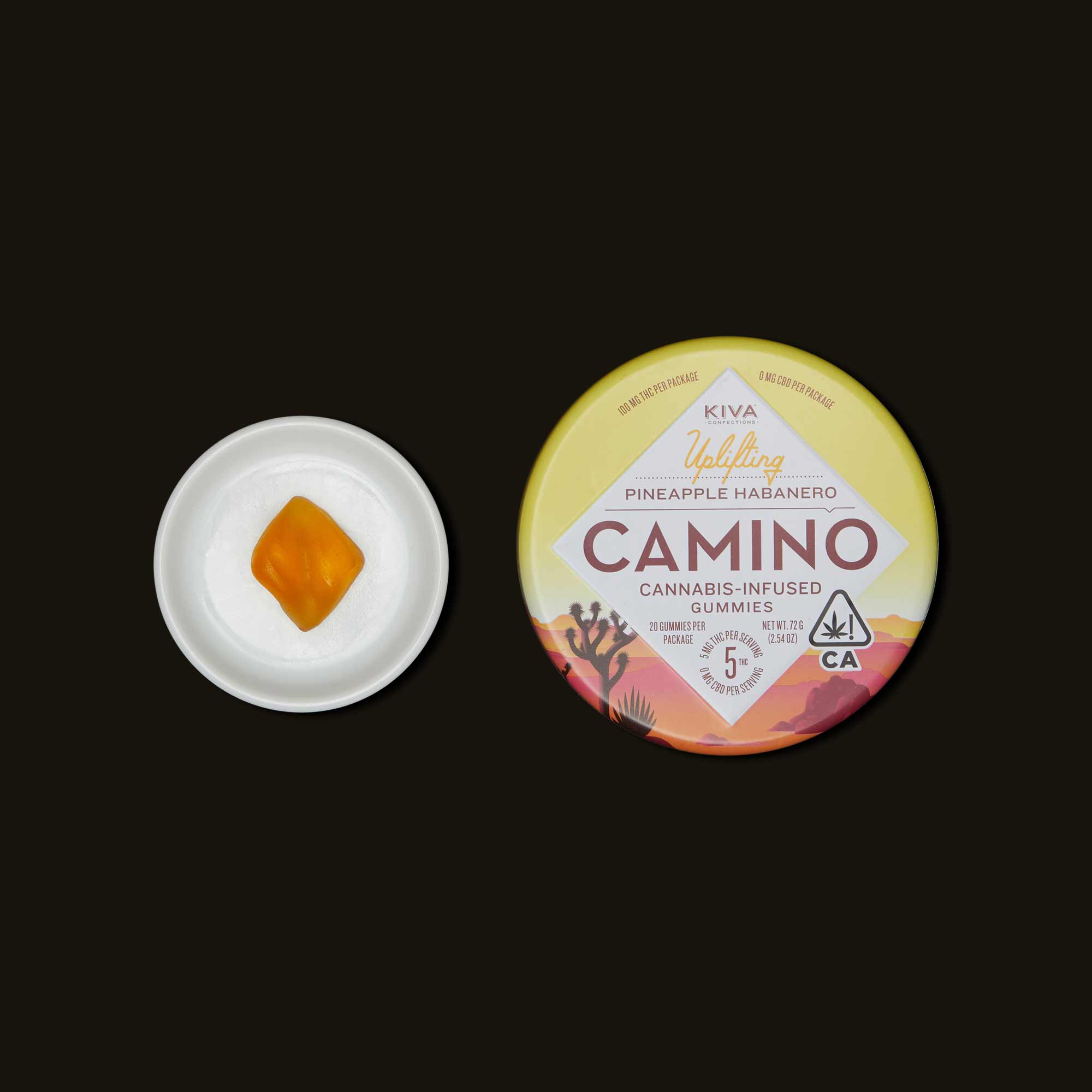 Kiva Confections Camino Pineapple Habanero Gummies
