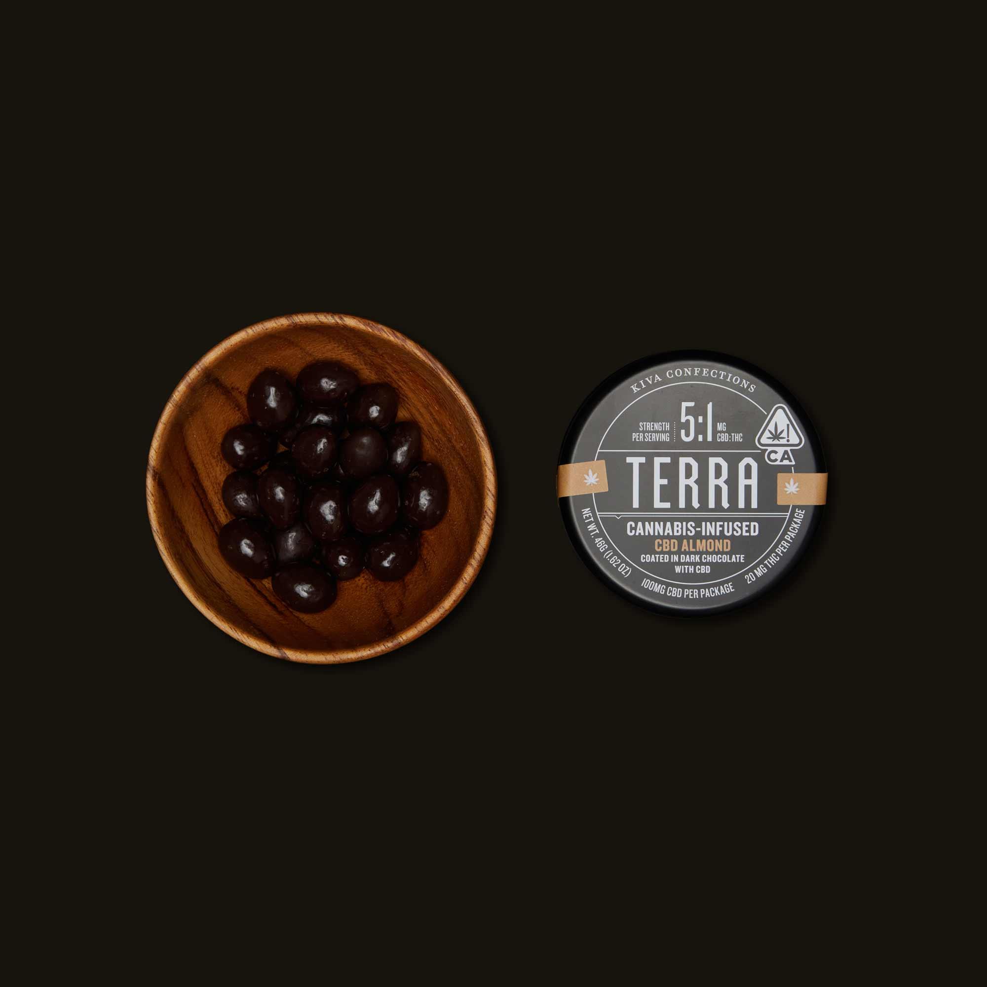 Kiva Confections Terra CBD Almond Bites
