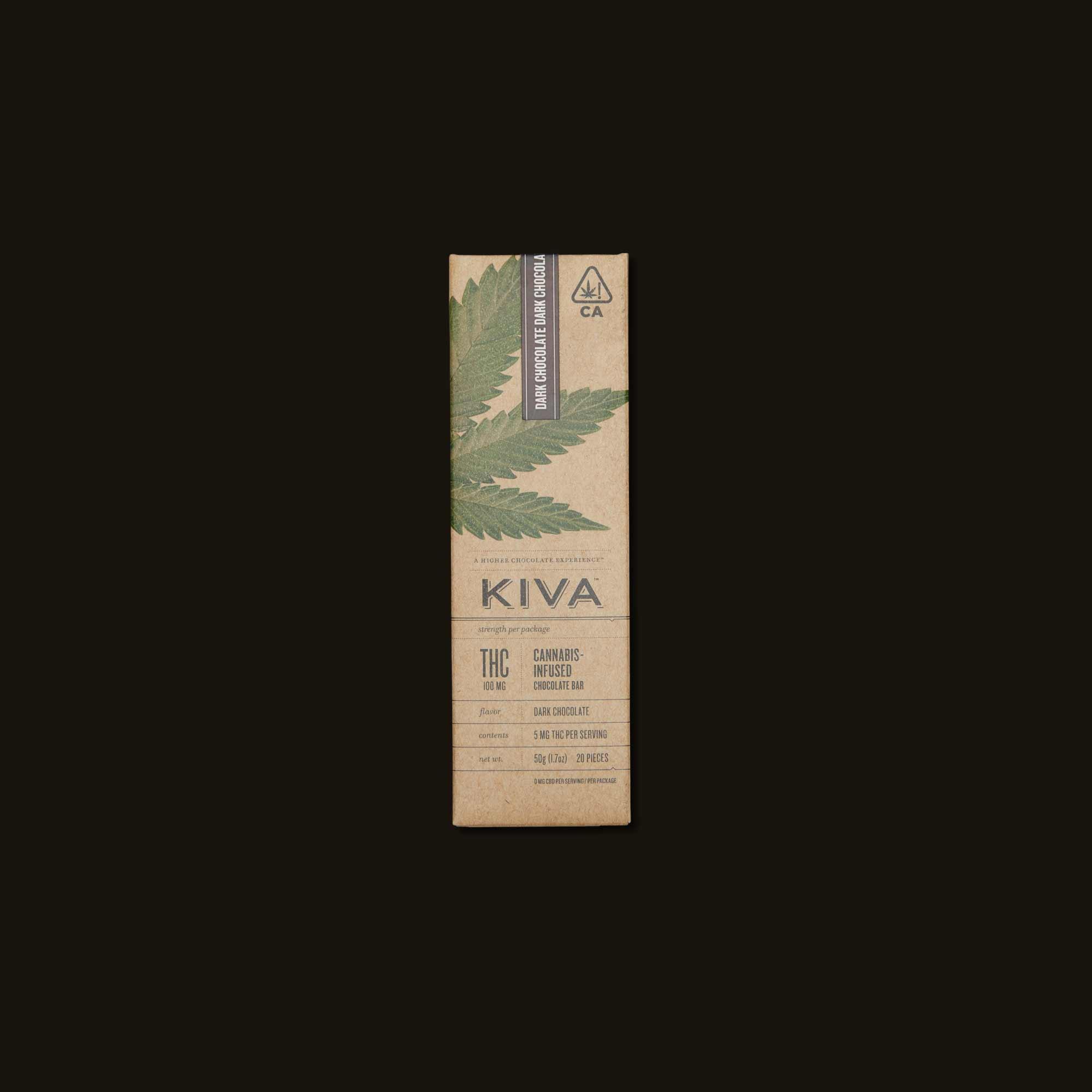 Dark Chocolate Kiva Bar - 20 piece chocolate bar