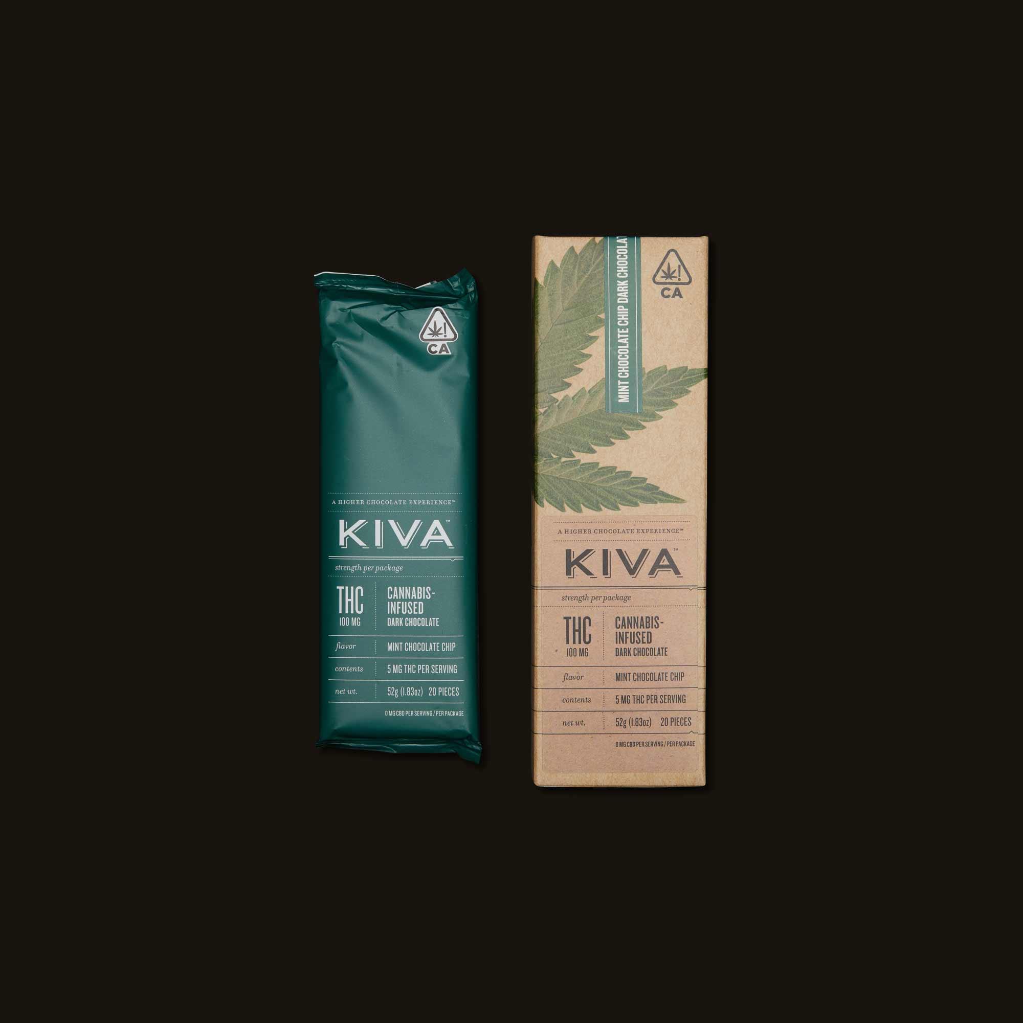 Kiva Confections Mint Chocolate Chip Bar