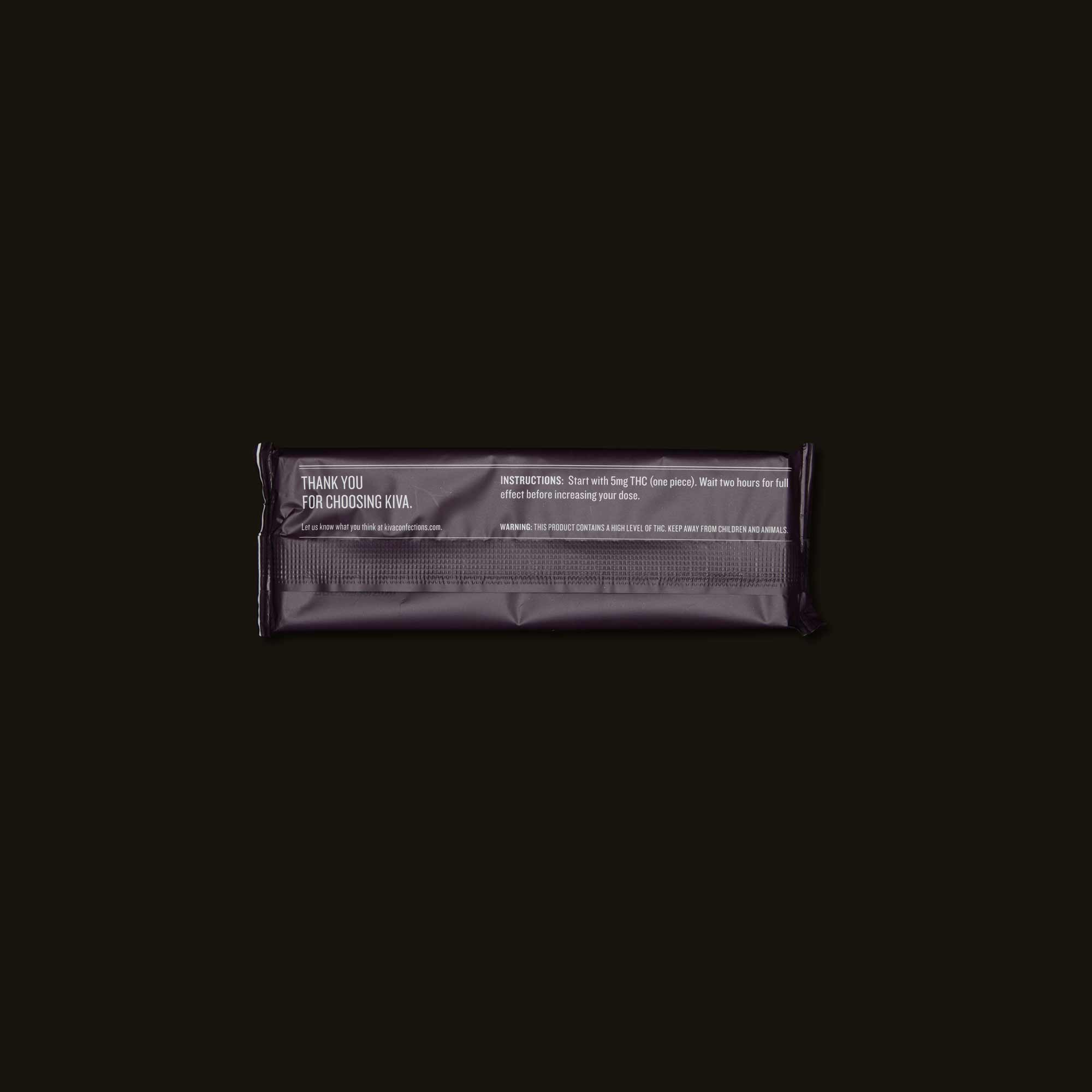 Dark Chocolate Kiva Bar - Edible for feeling Euphoric