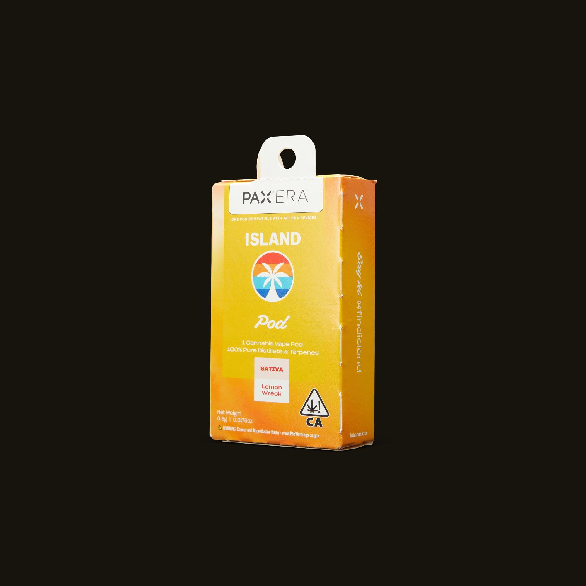Island Lemon Wreck PAX Era Pod Side Packaging