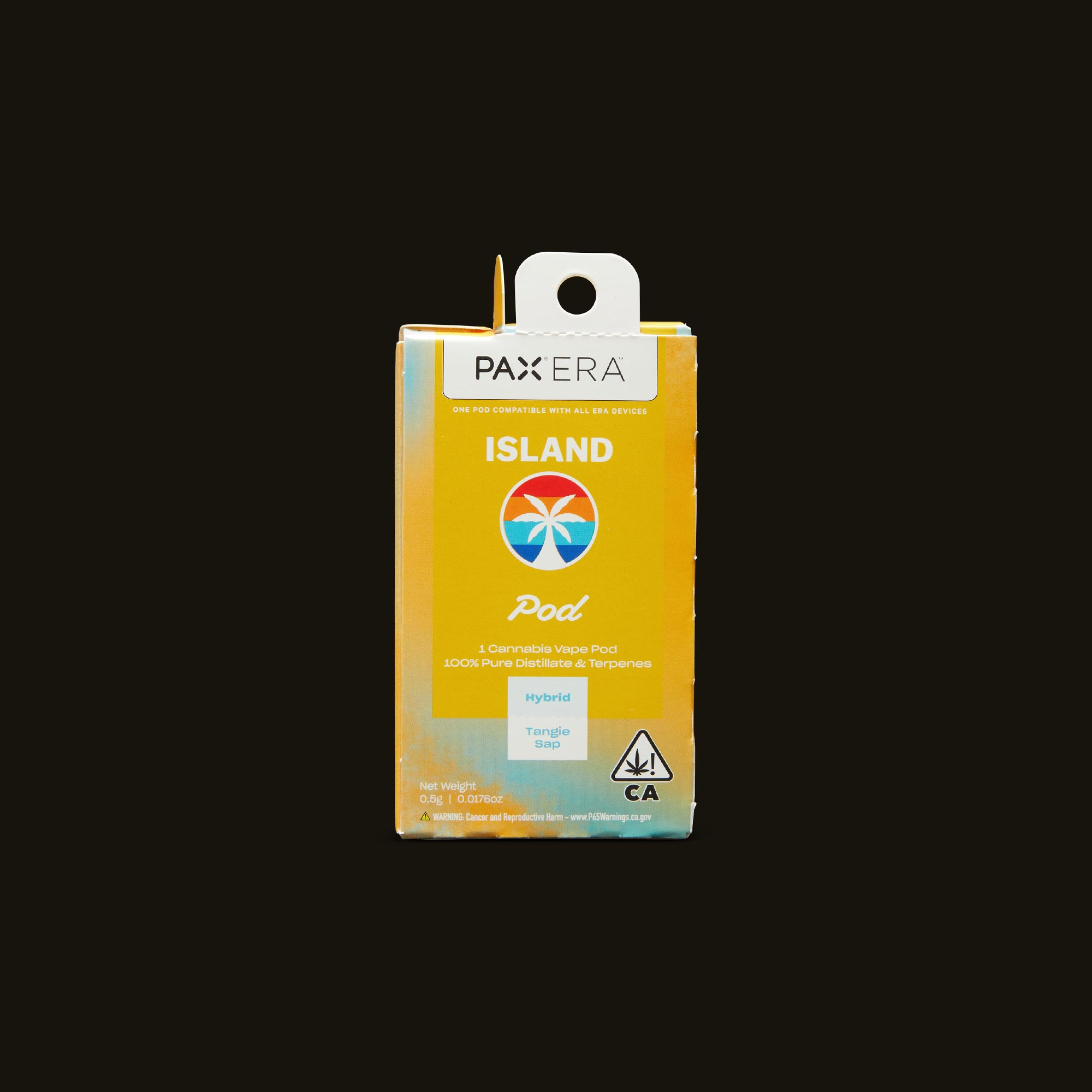 Island Tangie Sap PAX Era Pod Front Packaging