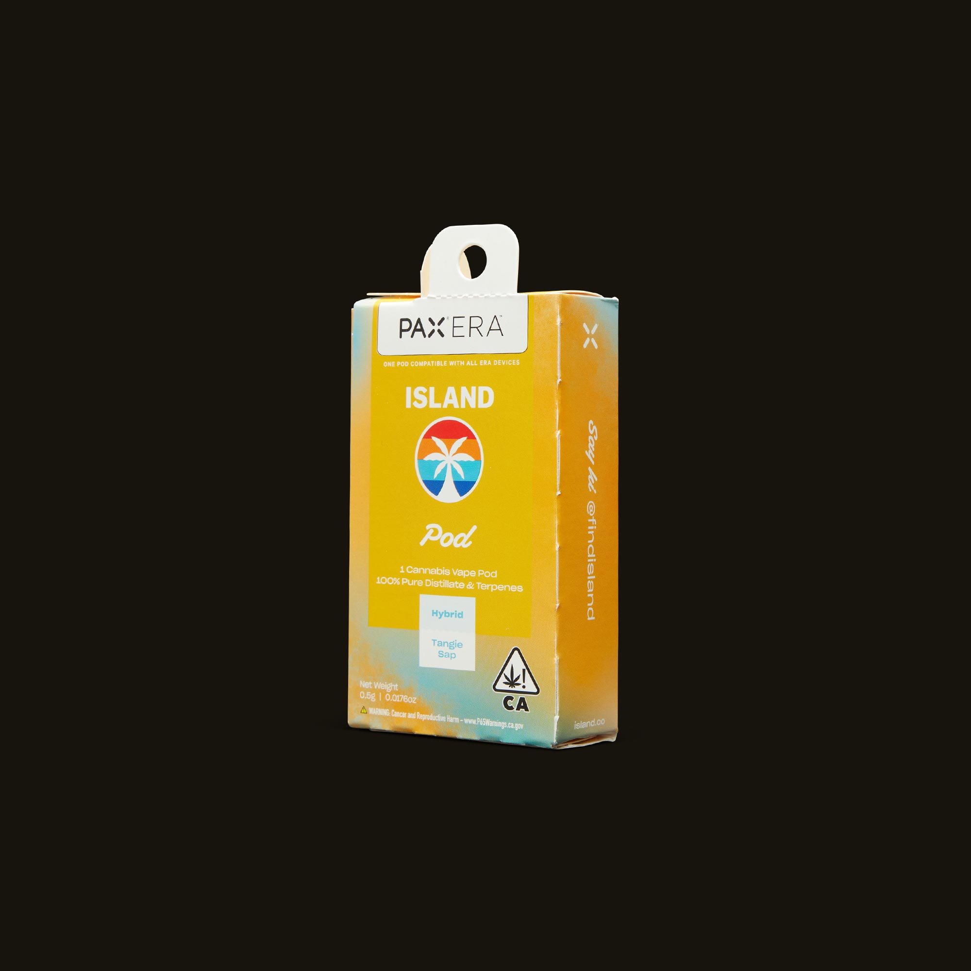 Island Tangie Sap PAX Era Pod Side Packaging