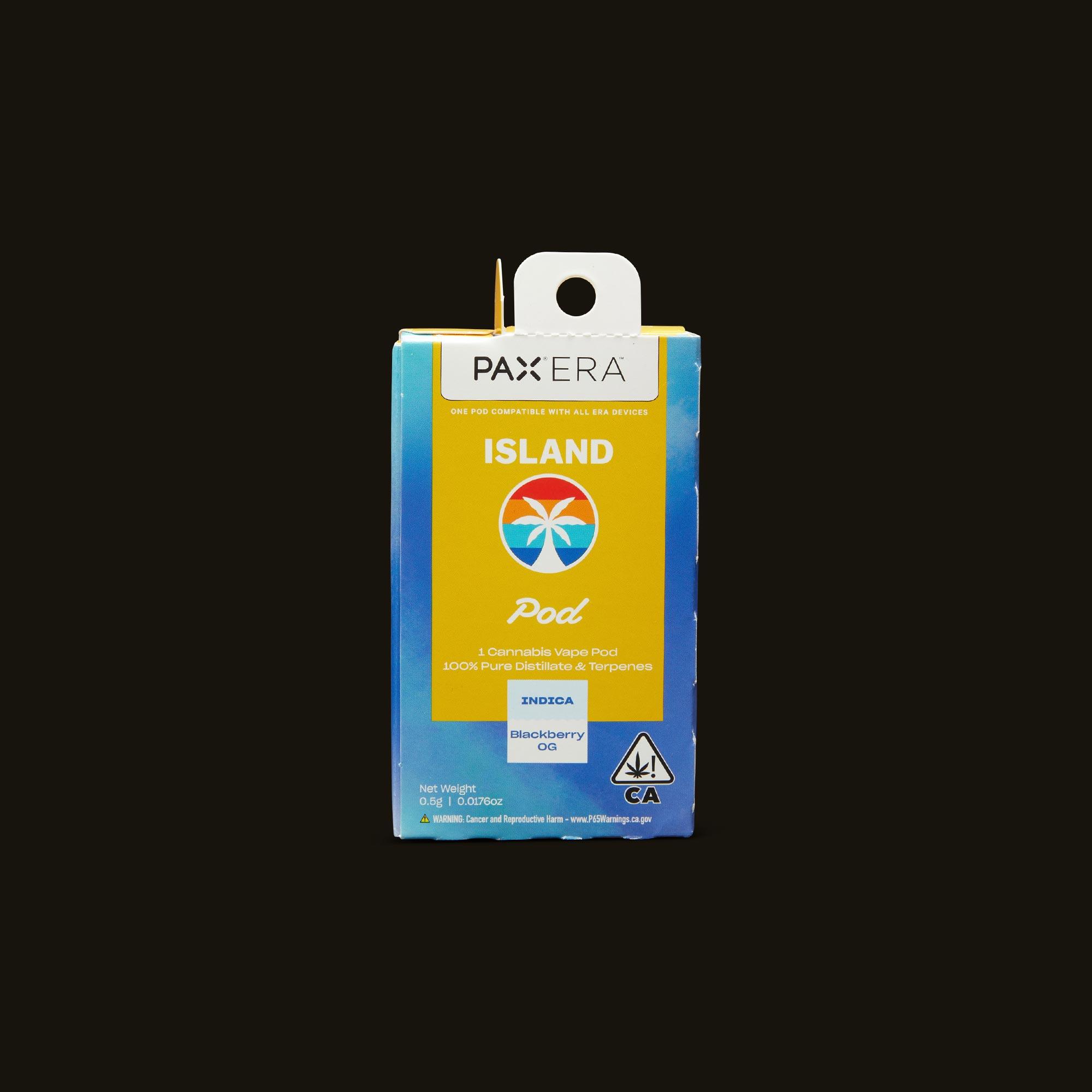 Island Blackberry OG PAX Era Pod Front Packaging
