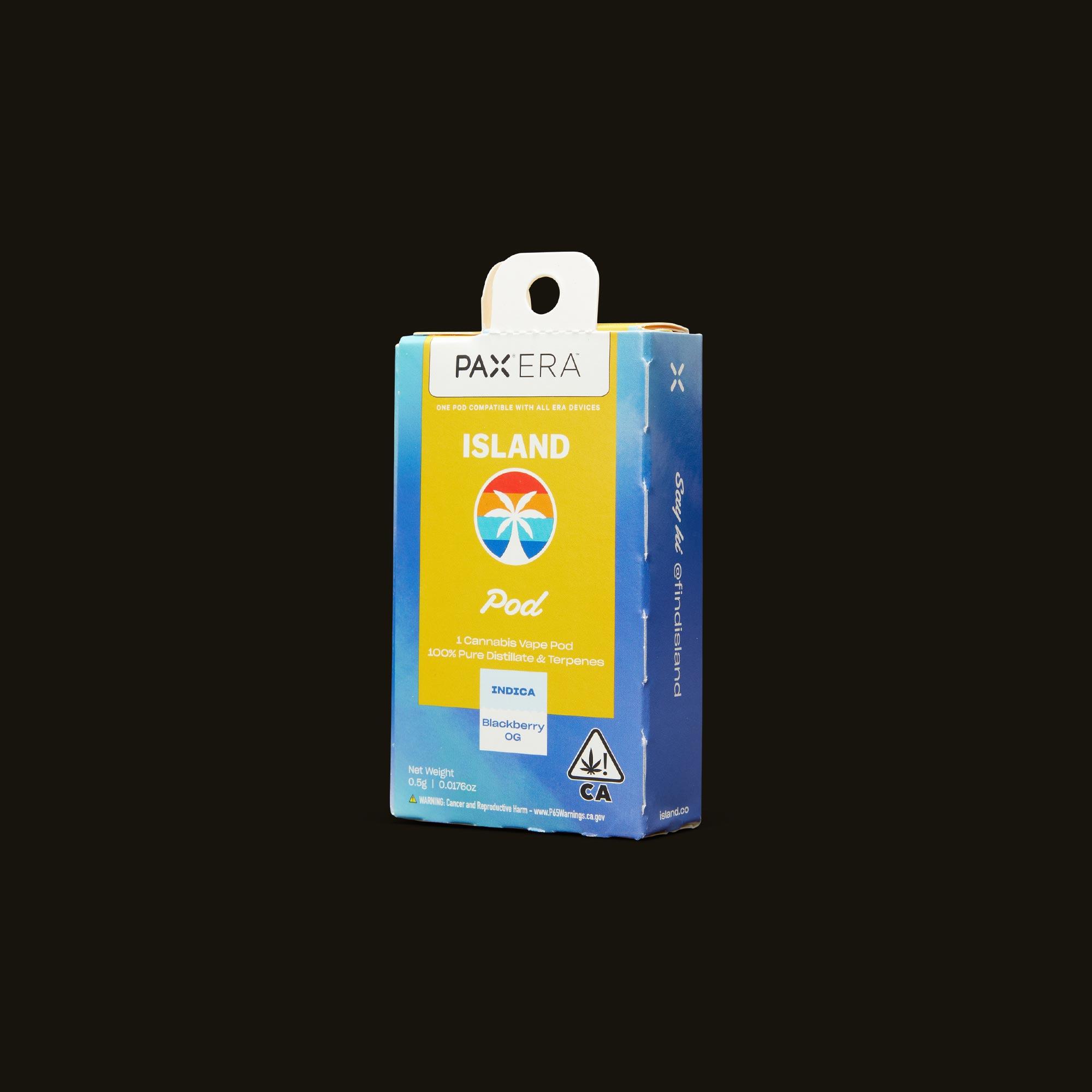 Island Blackberry OG PAX Era Pod Side Packaging