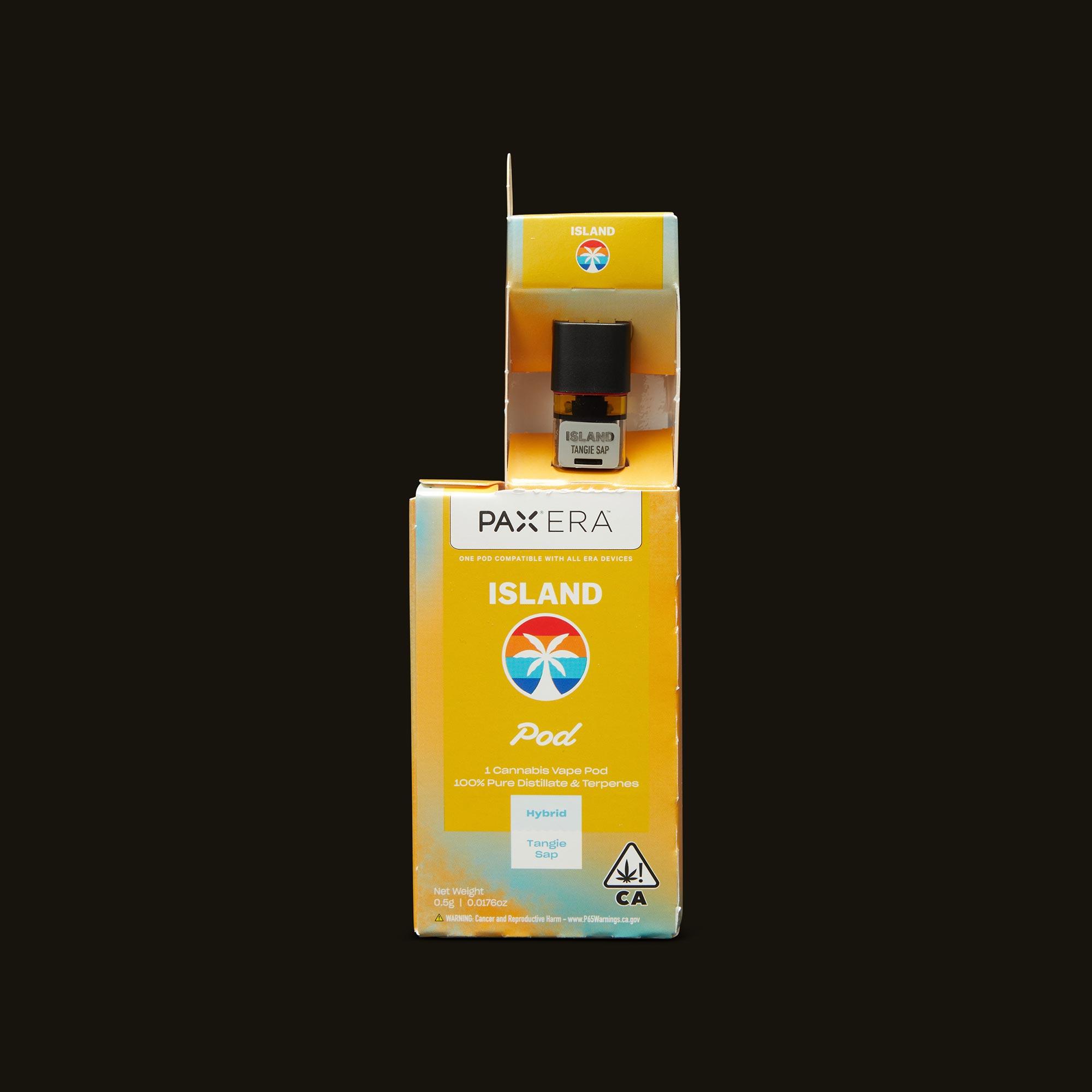 Island Tangie Sap PAX Era Pod Open Packaging