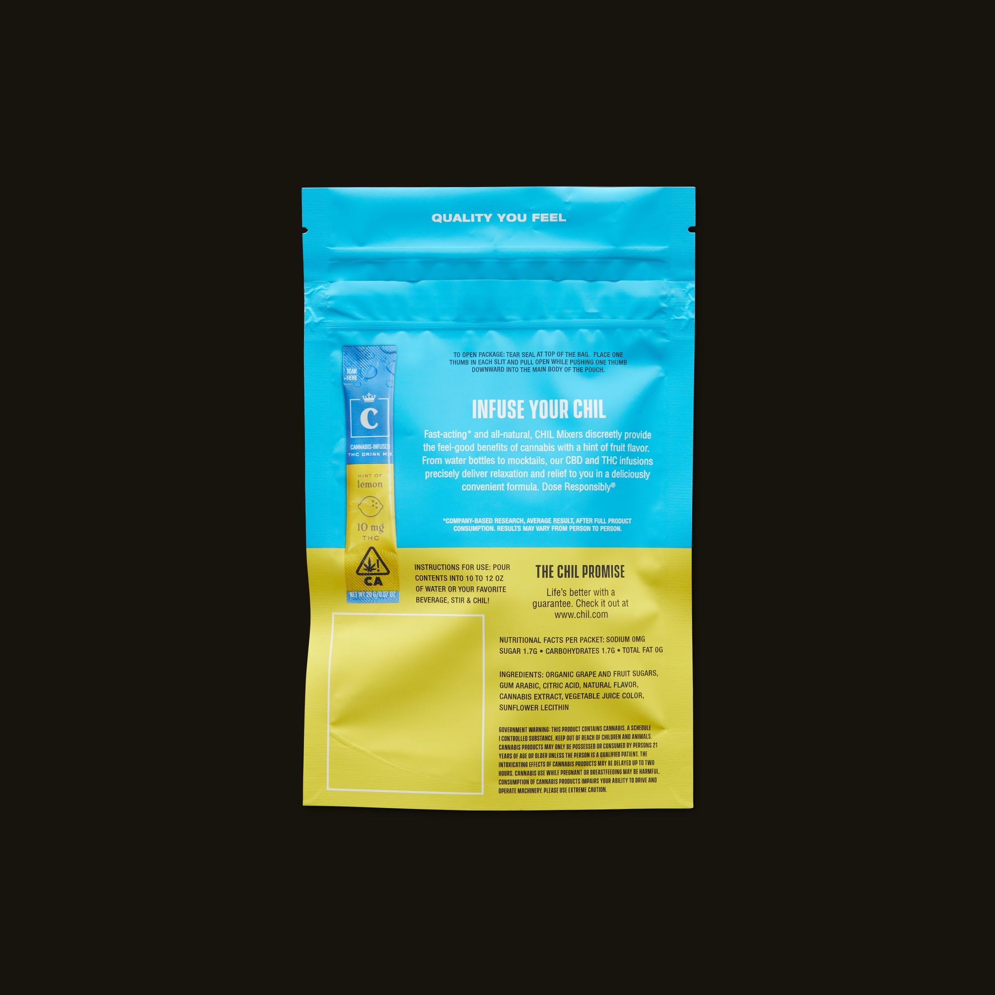 Chil Lemon Mixer Ingredients