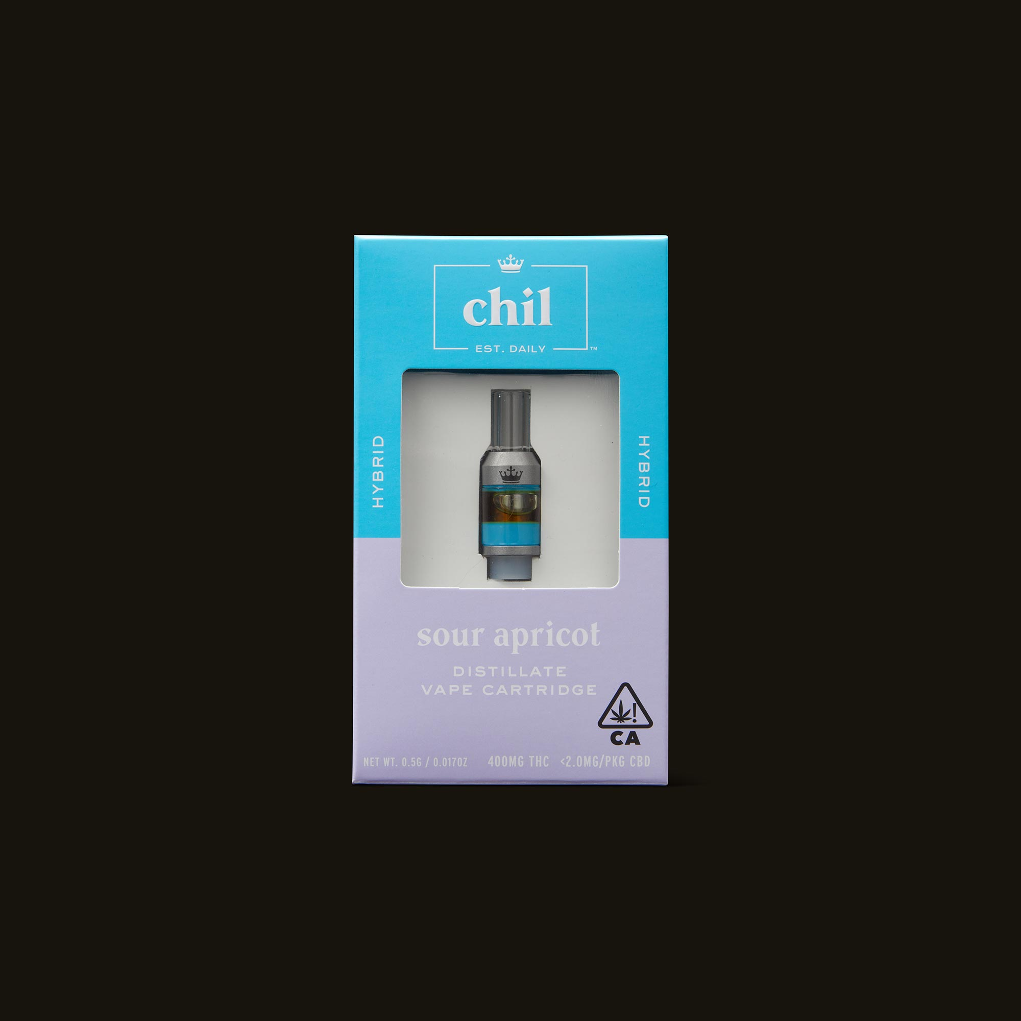 Chil Sour Apricot Cartridge Front of Box