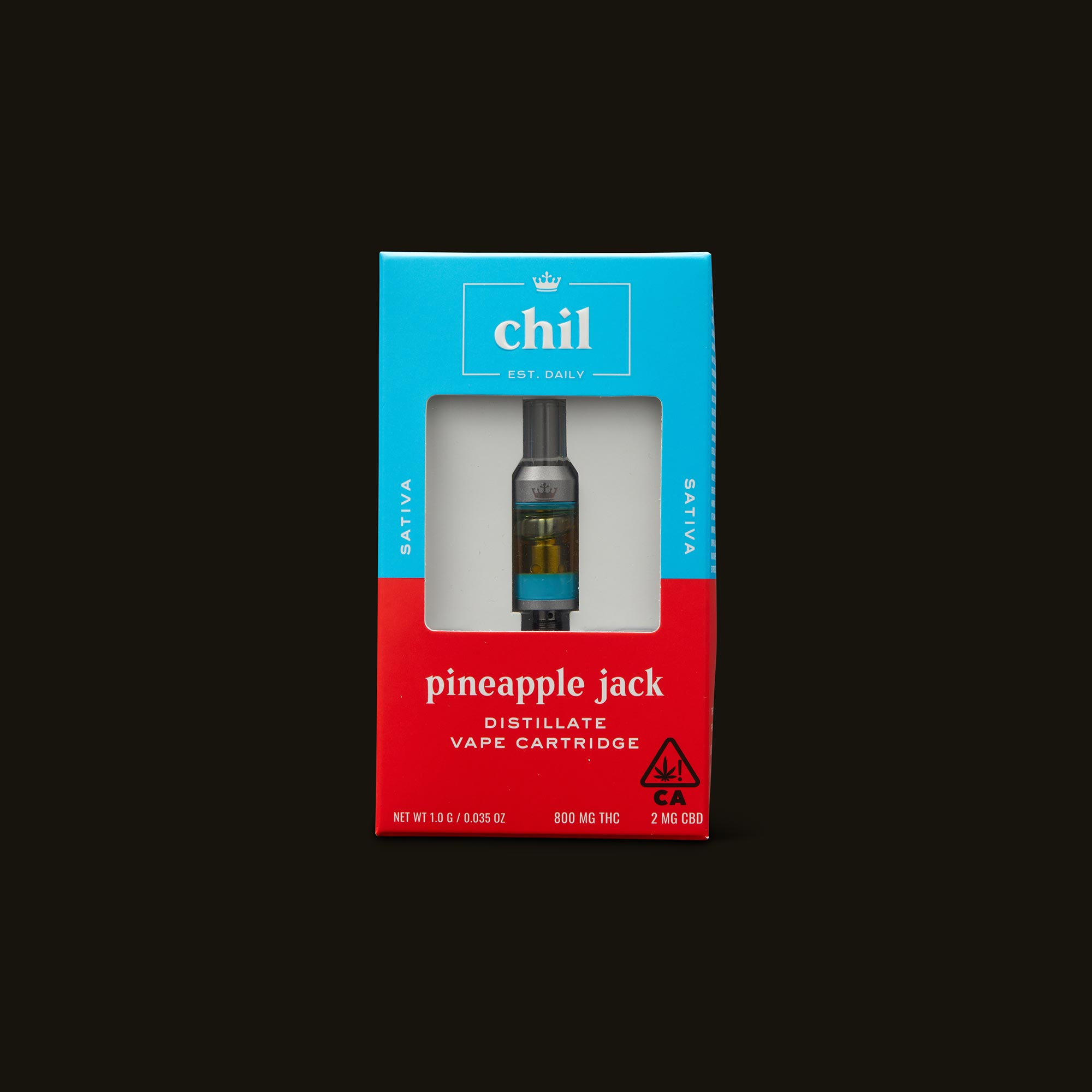 Chil Pineapple Jack Cartridge Front of Box