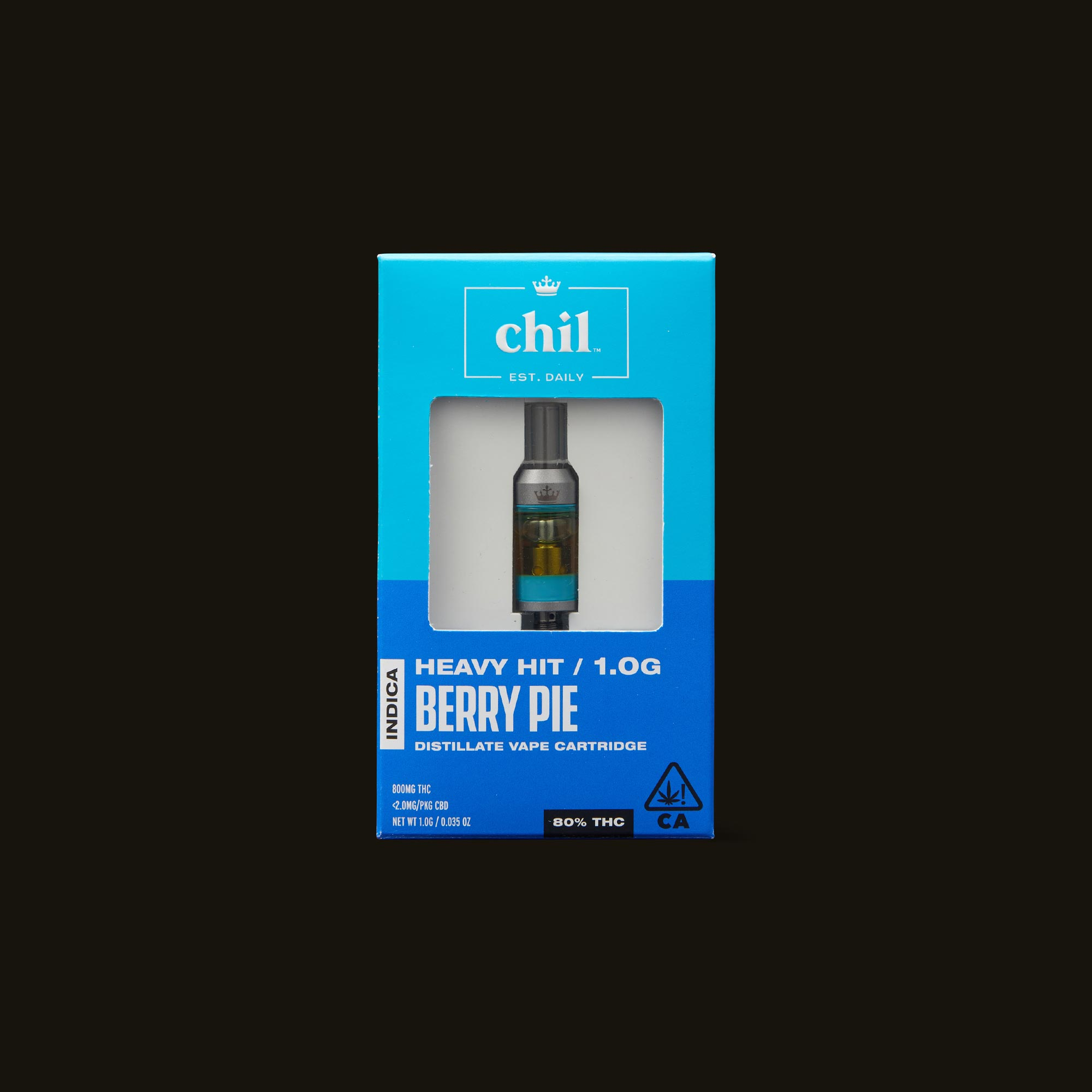 Chil Berry Pie Cartridge Front of Box
