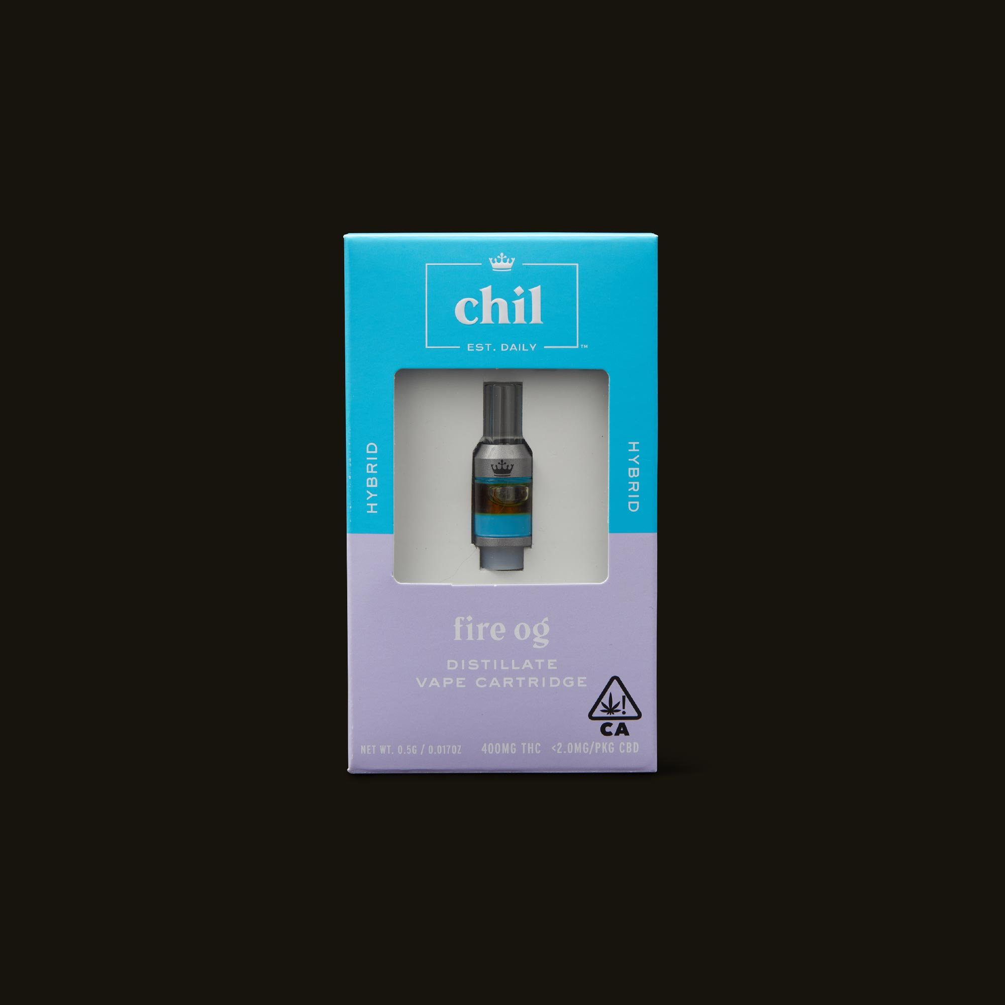 Chil Fire OG Cartridge Front of Box