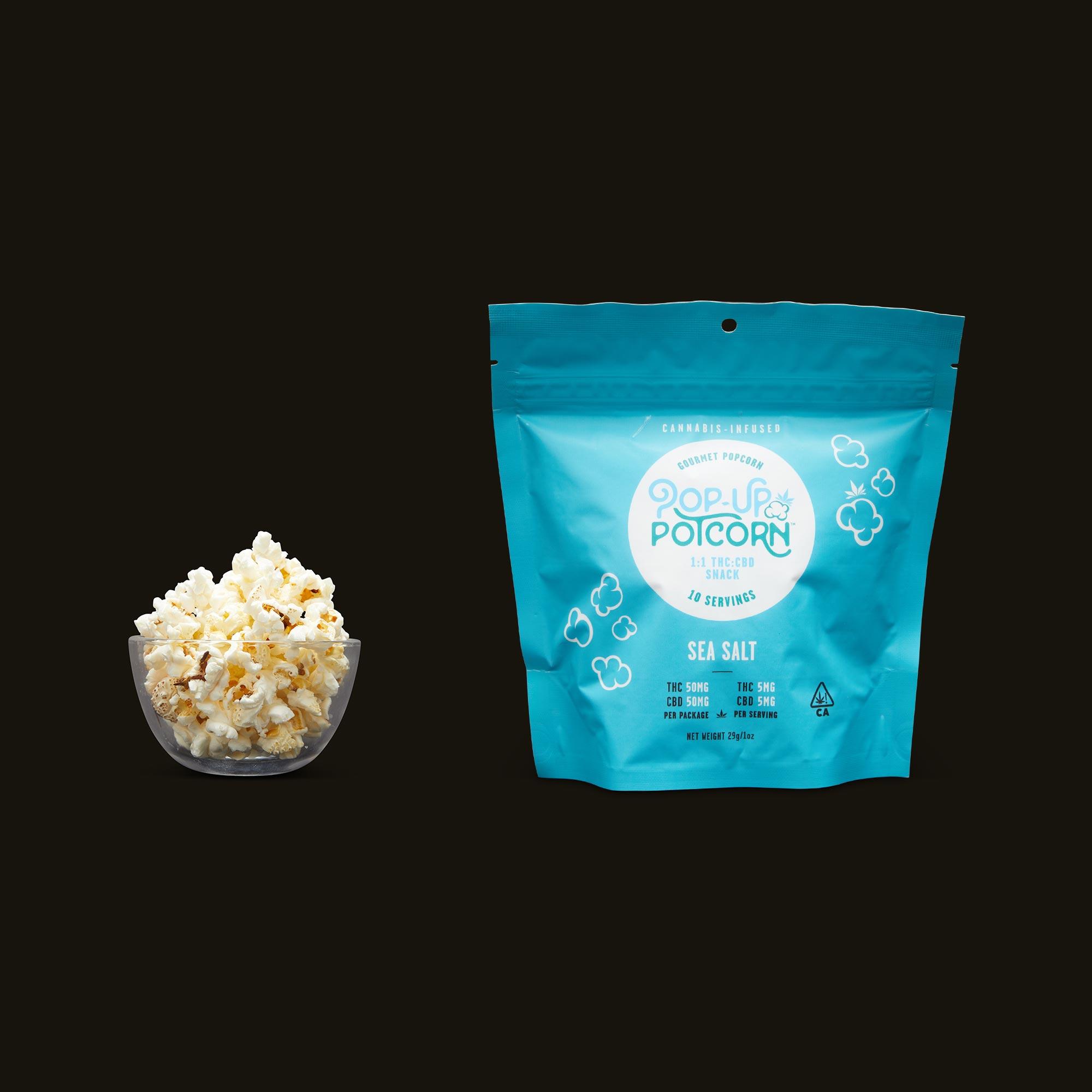 Pop-Up Potcorn Sea Salt Popcorn 1:1 - 10 Servings