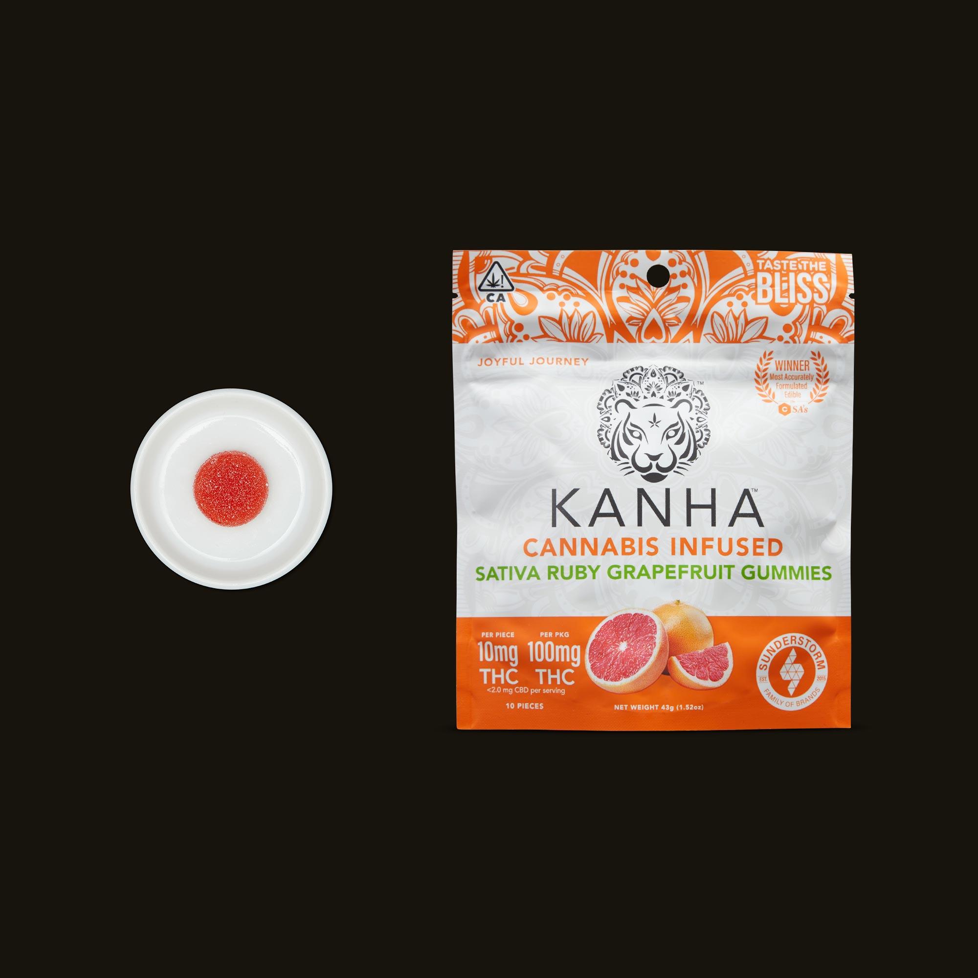 Kanha Ruby Grapefruit Gummies