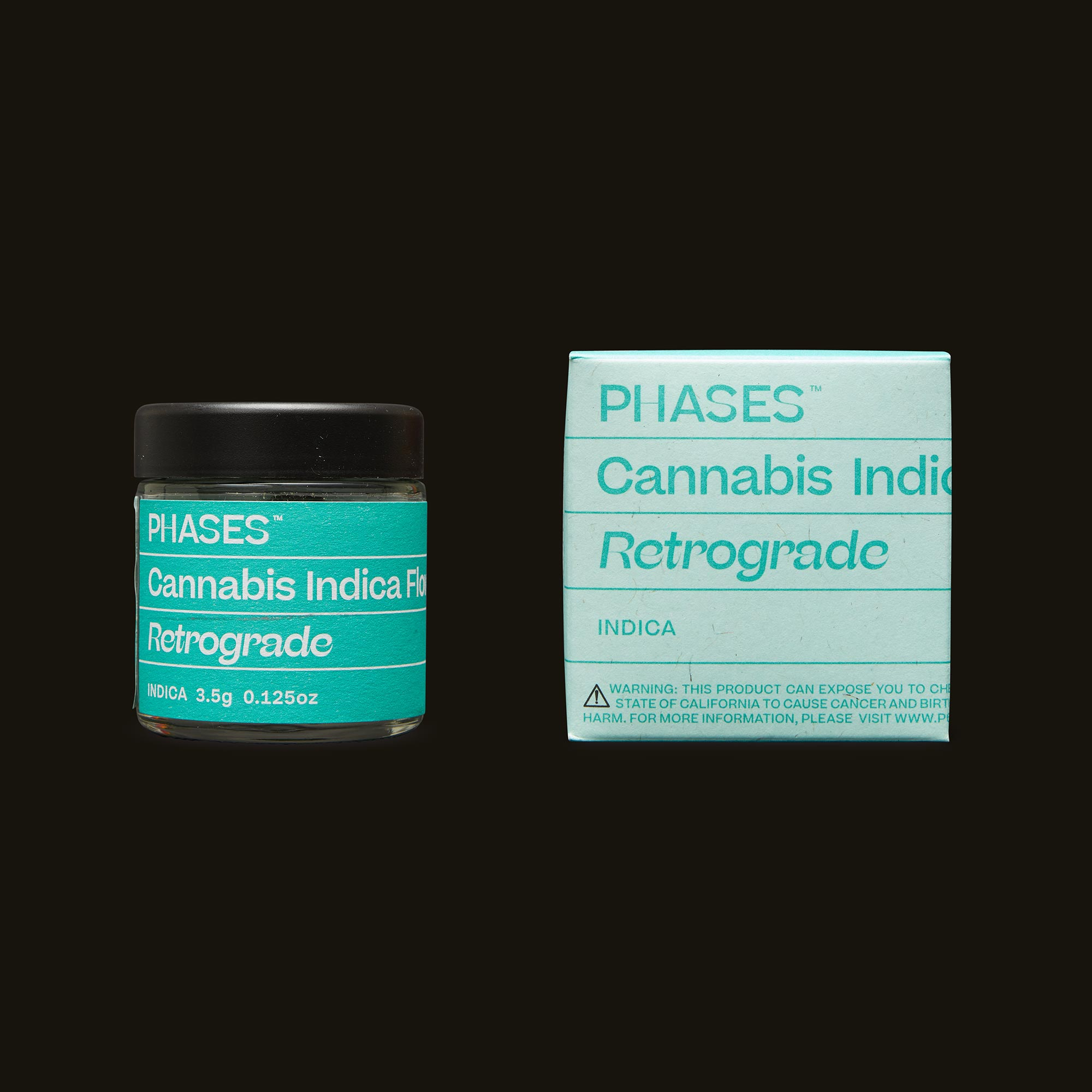 PHASES Retrograde Jar and Packaging