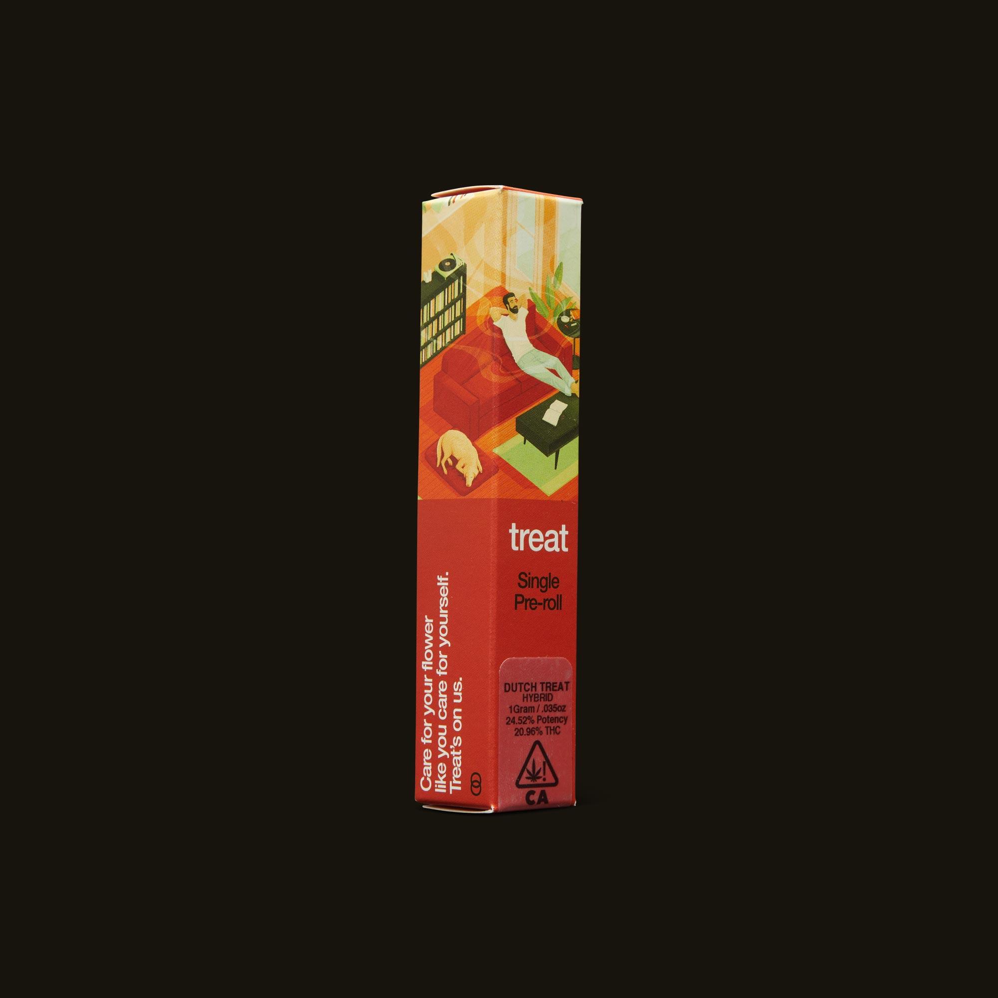 treat Dutch Treat Pre-Roll Side Packaging