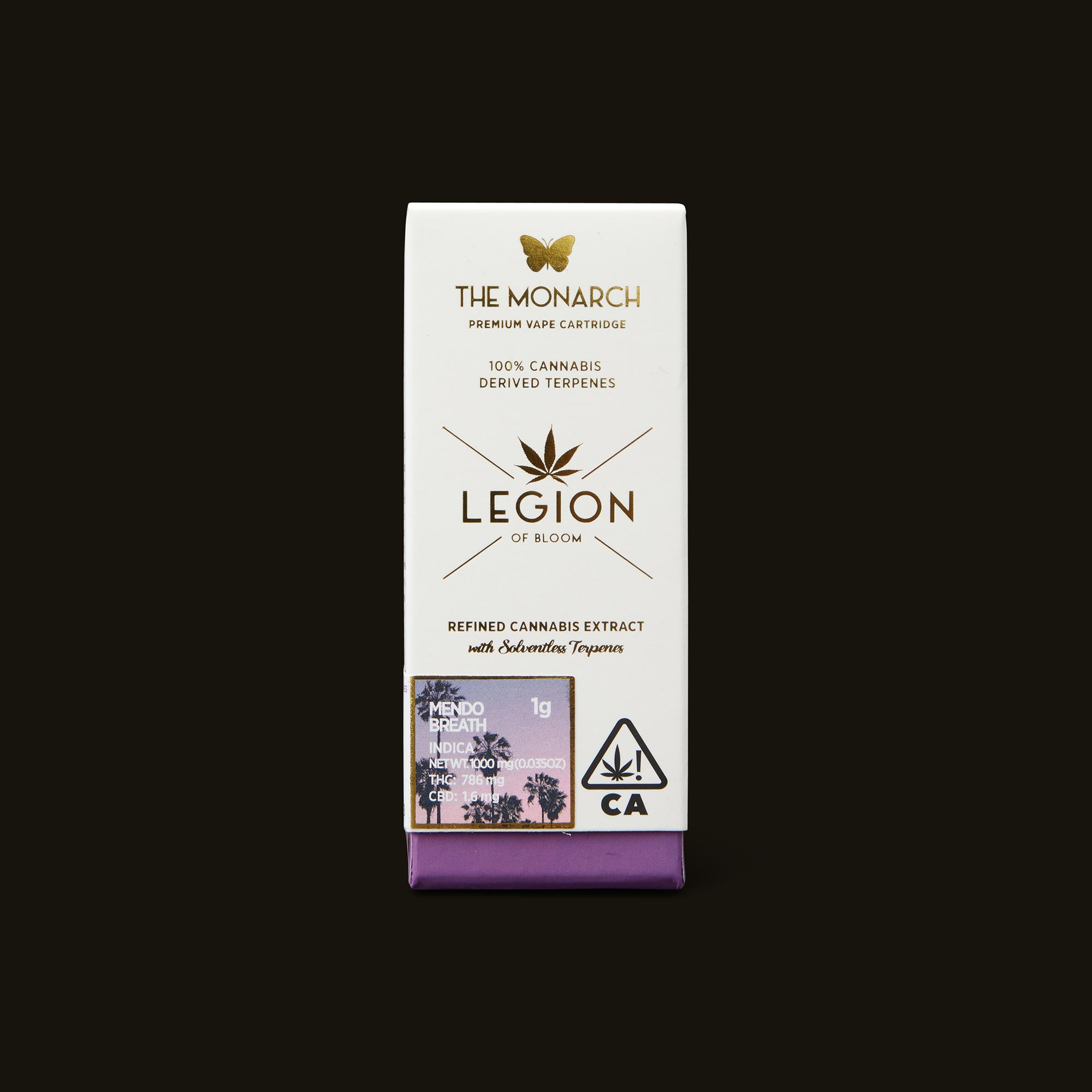 Legion of Bloom Mendo Breath Monarch Front Packaging