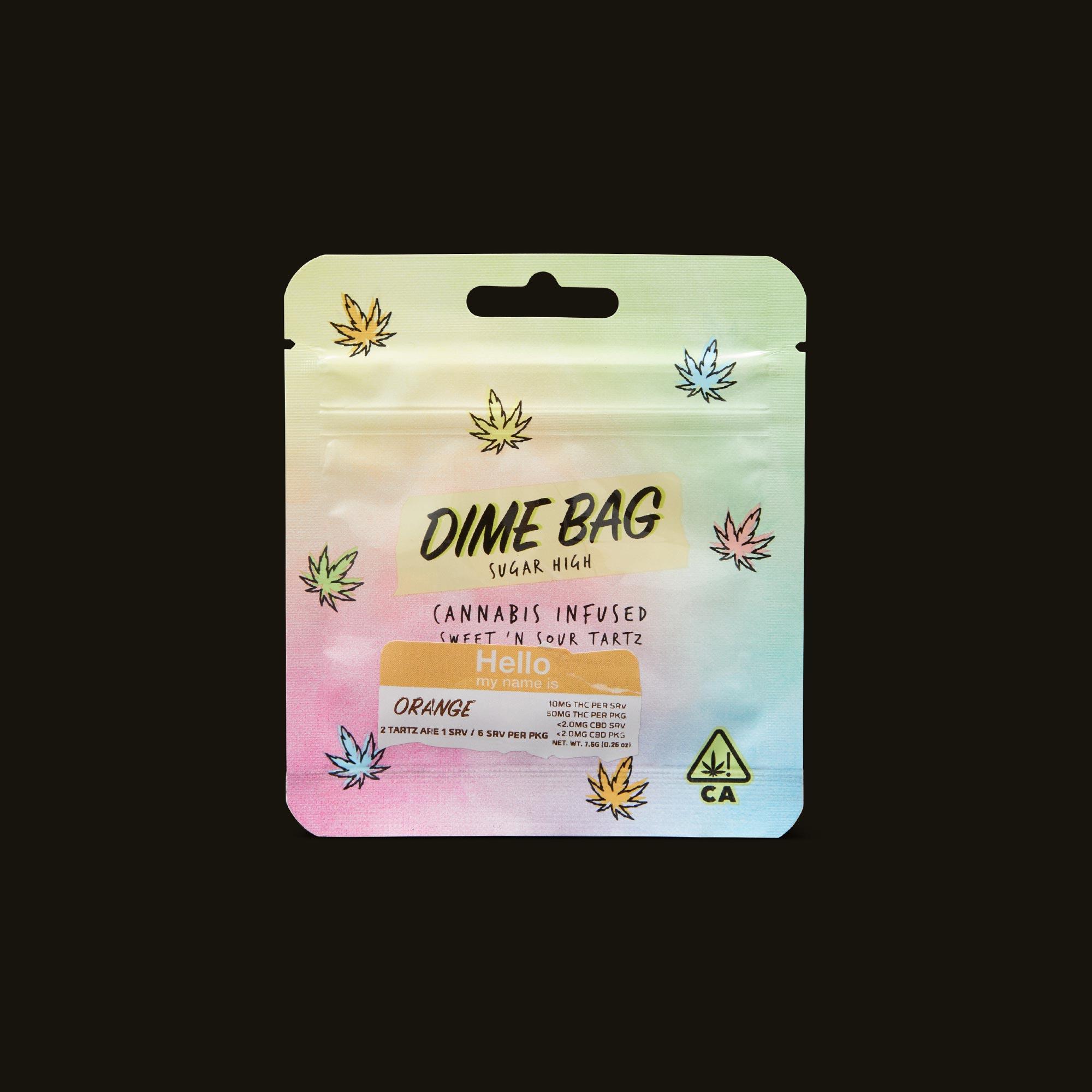Dime Bag Orange Sweet N' Sour Tartz Front Packaging
