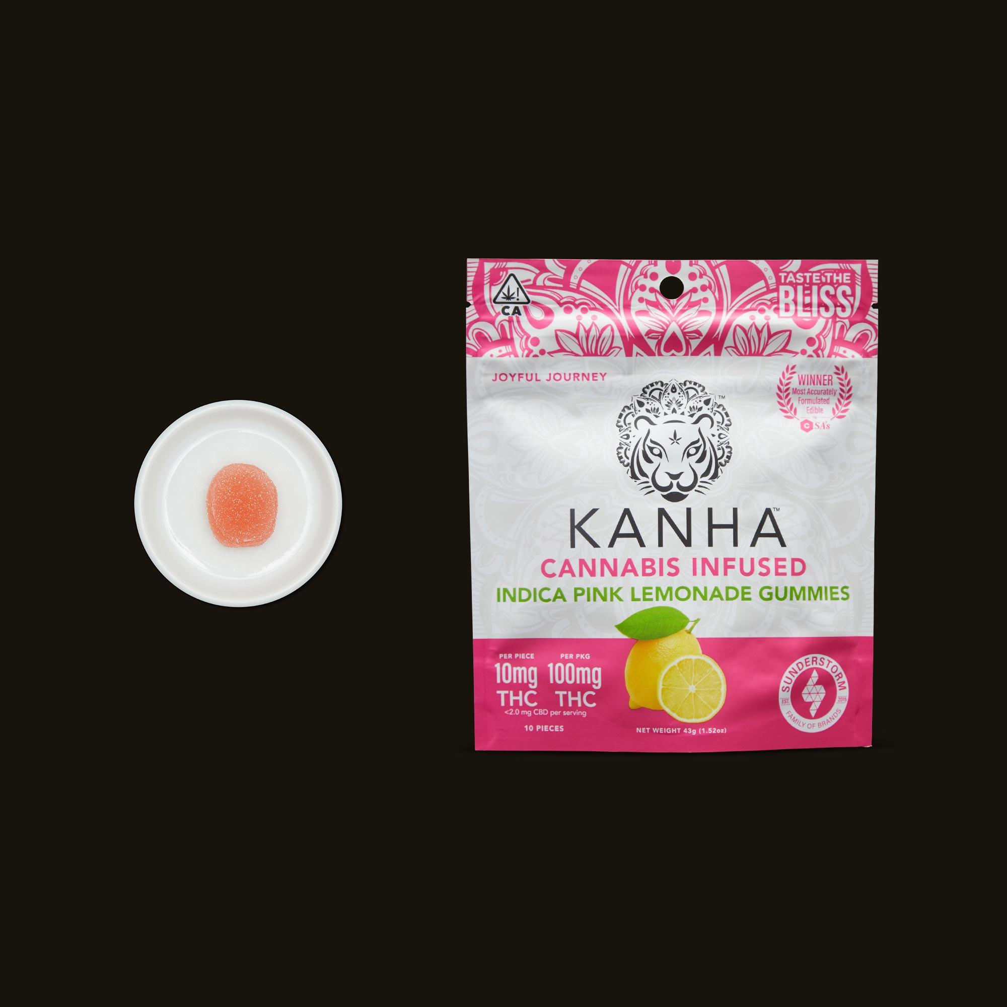 Kanha Pink Lemonade Gummies