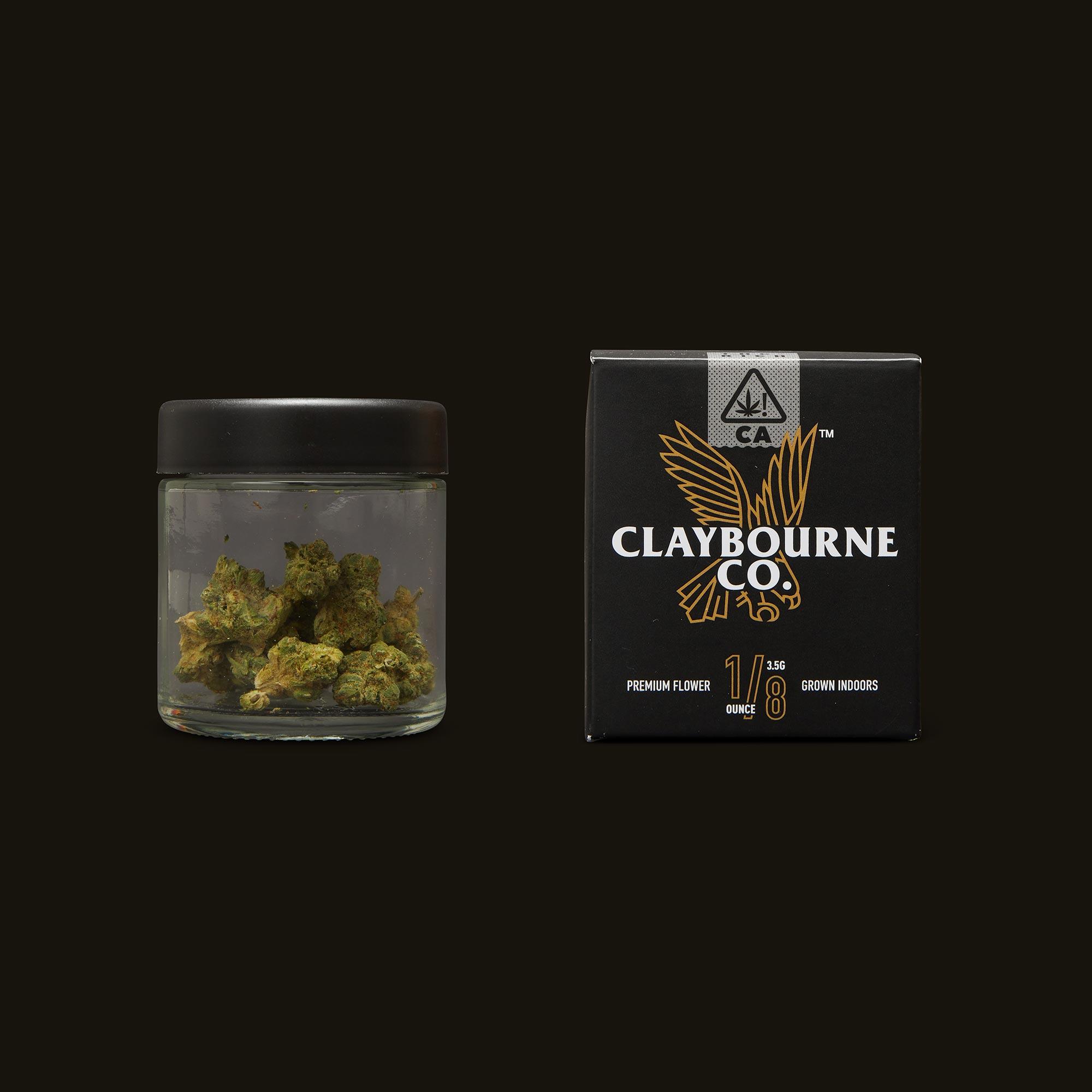 Claybourne Co. Brightfire OG Jar and Packaging