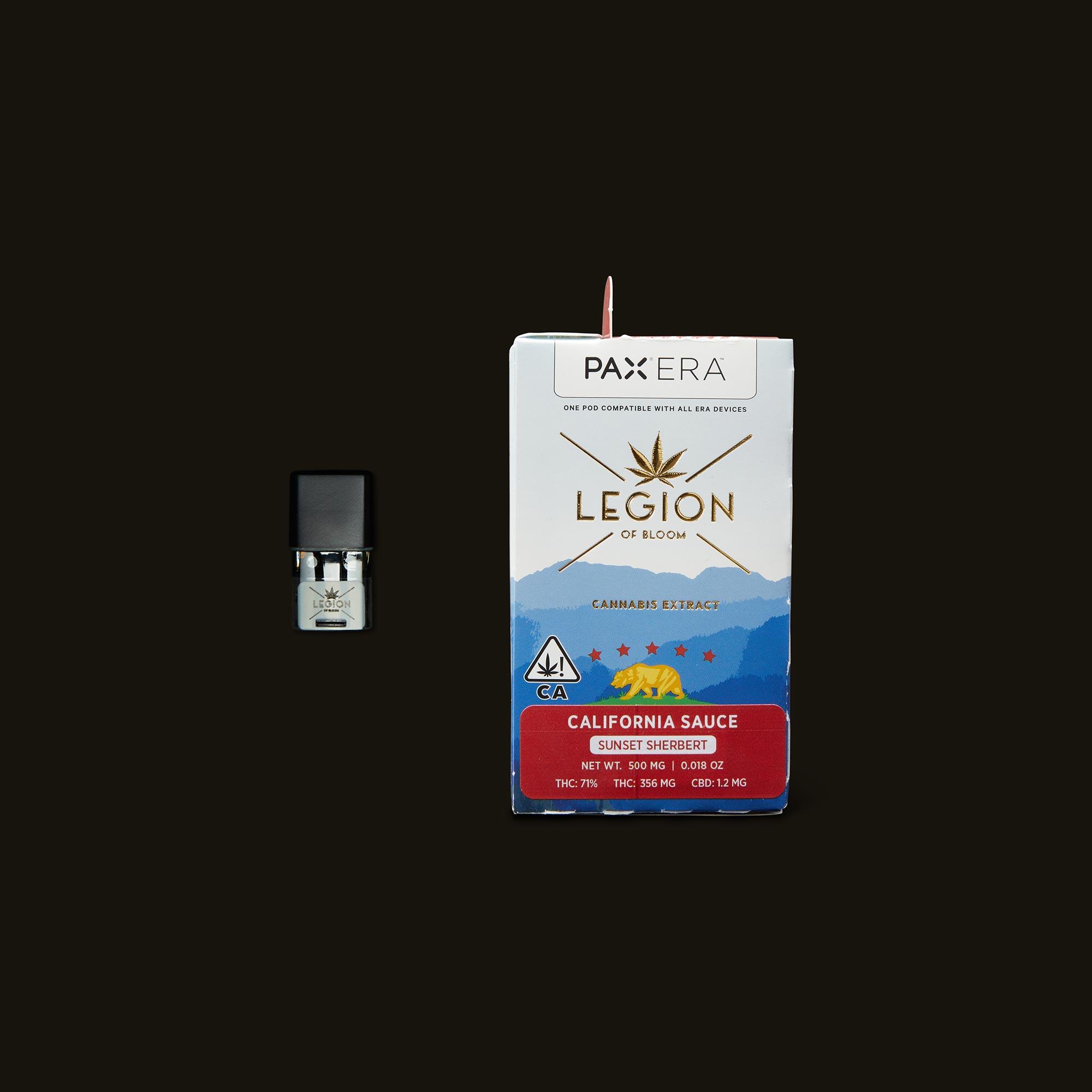 Legion of Bloom Sunset Sherbert California Sauce PAX Era Pod