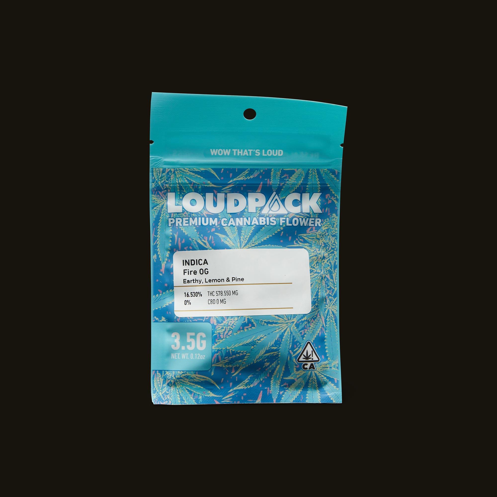 Loudpack Fire OG Front Packaging