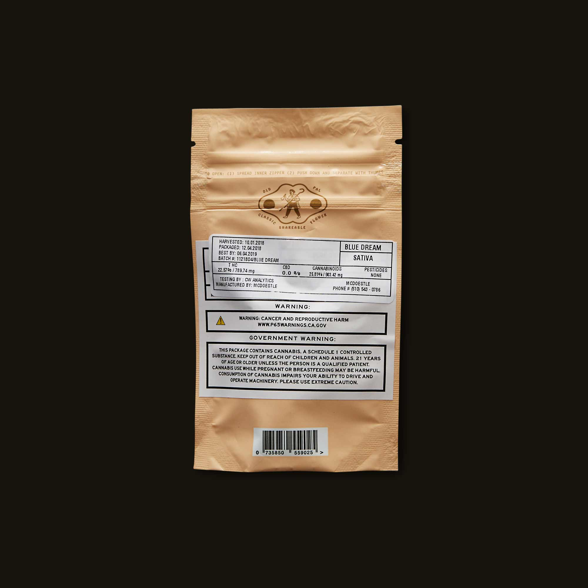 OLD PAL Flower - Sativa 1/8 Ounce