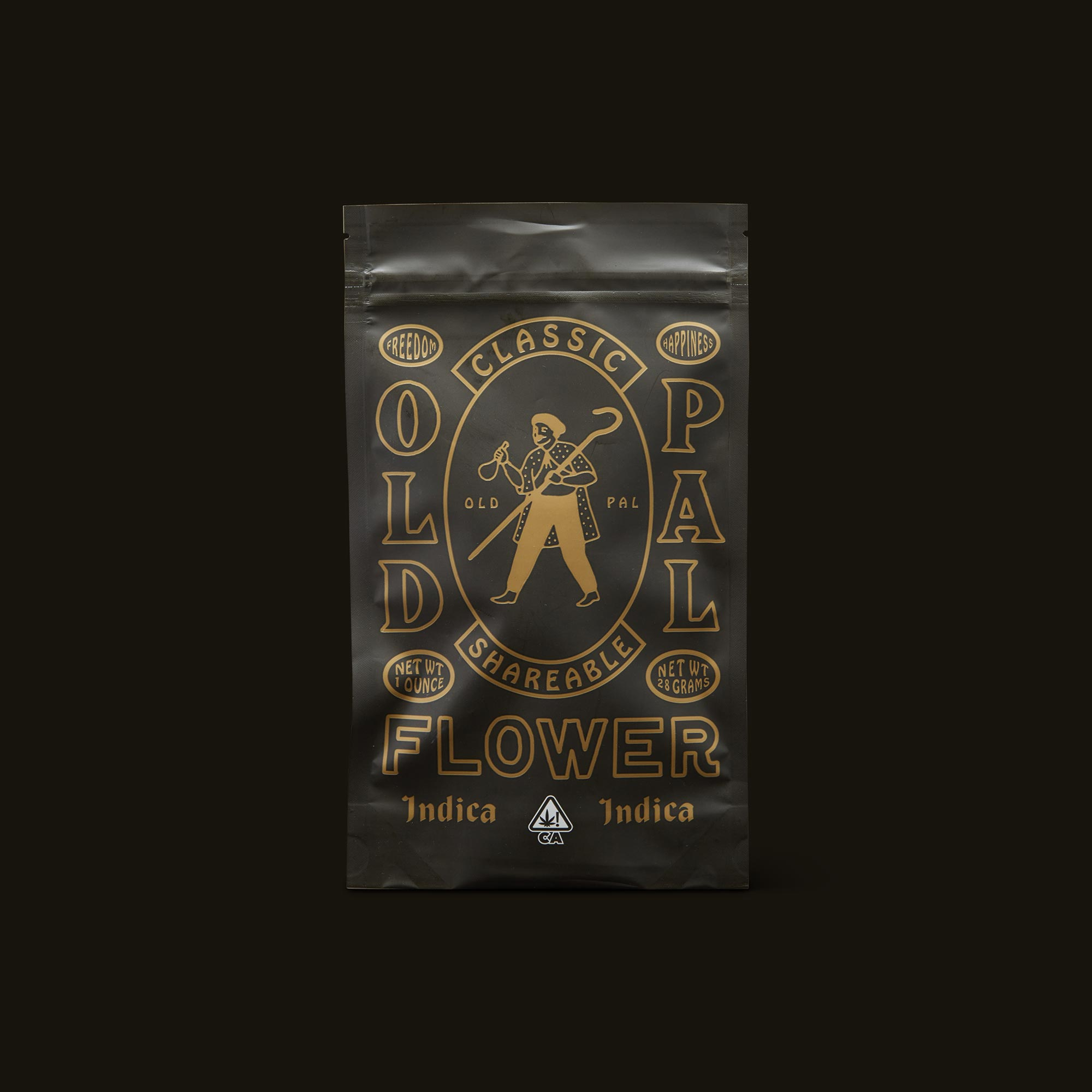 OLD PAL Indica 1 Ounce Front Packaging