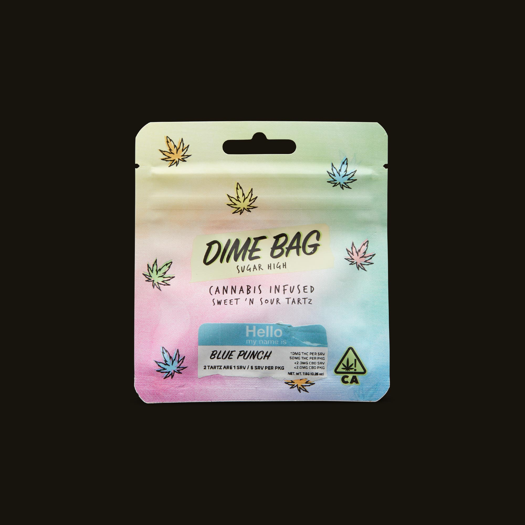 Dime Bag Blue Punch Sweet 'N Sour Tartz Front Packaging