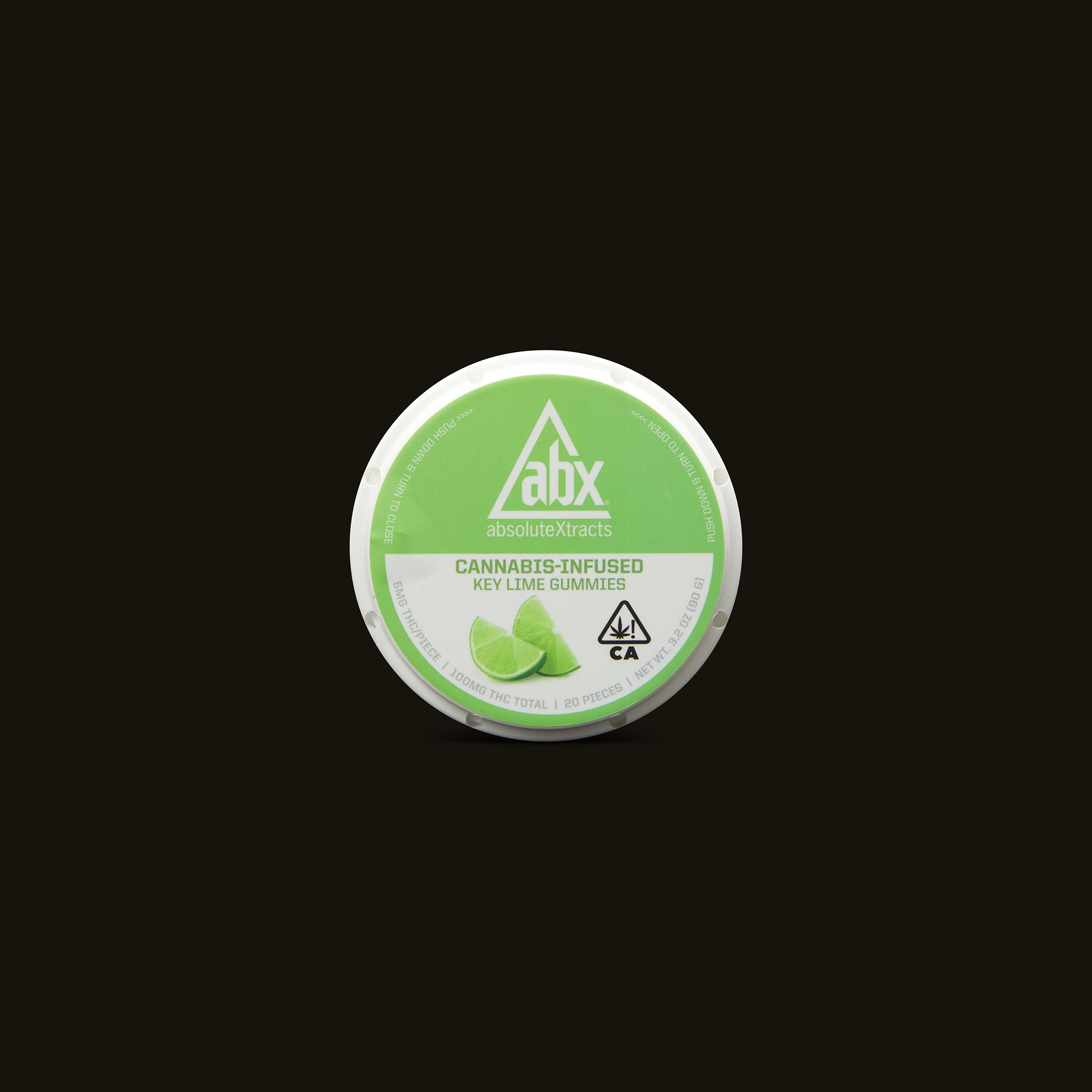 AbsoluteXtracts Key Lime Gummies Inner Packaging