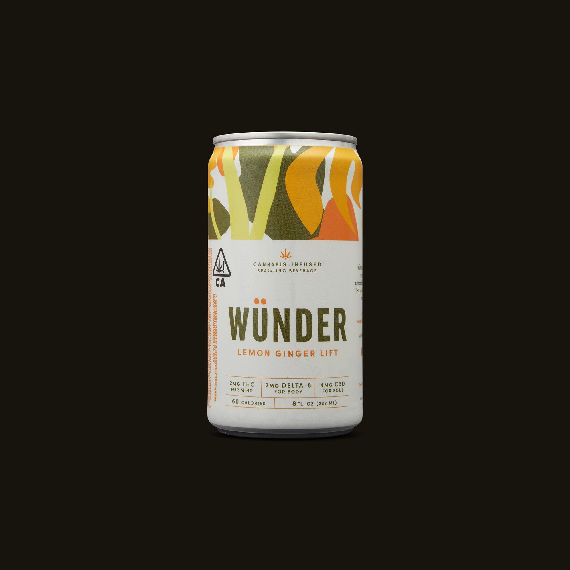 Wunder Lemon Ginger Lift Front Can