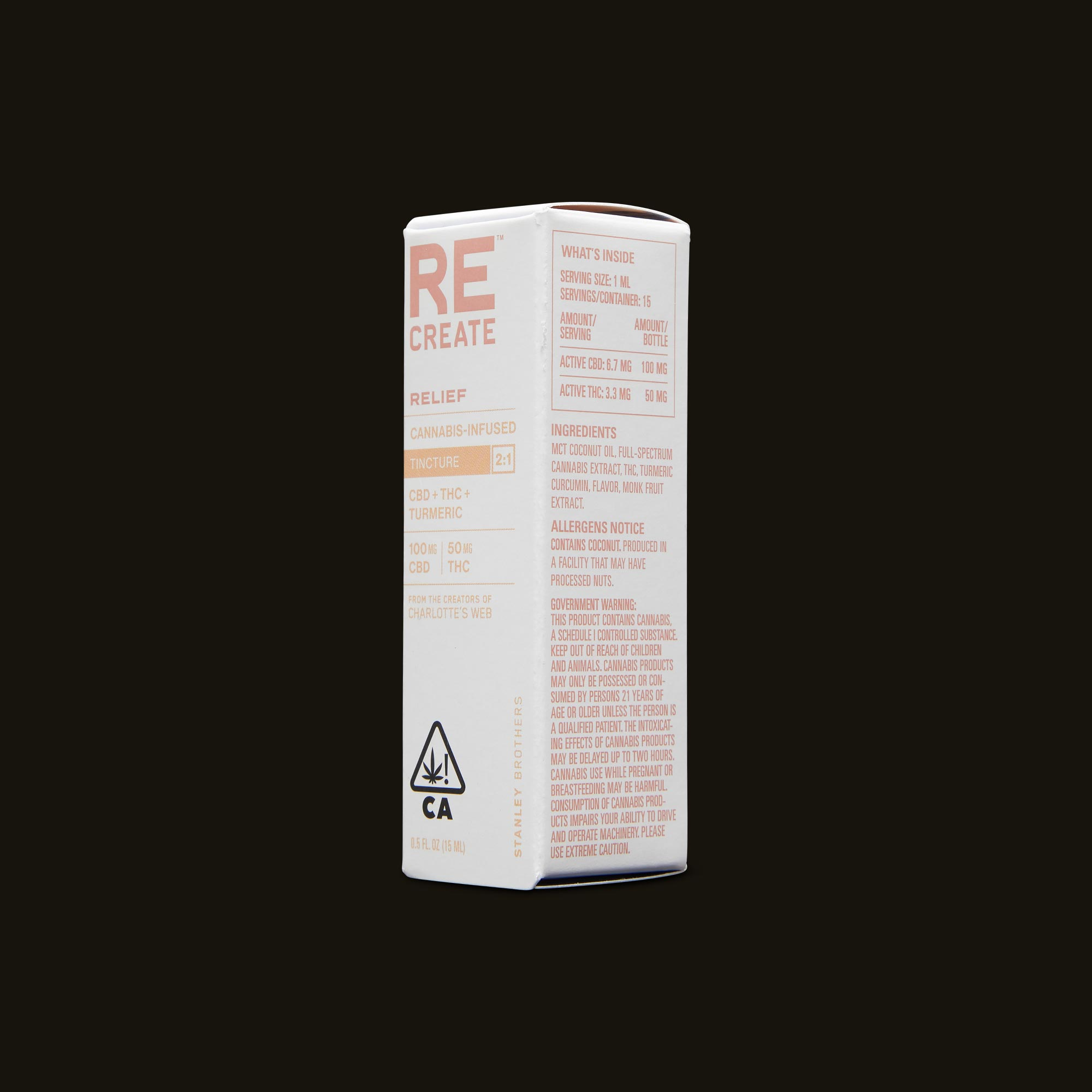 ReCreate Relief Tincture - 15ml Ingredients