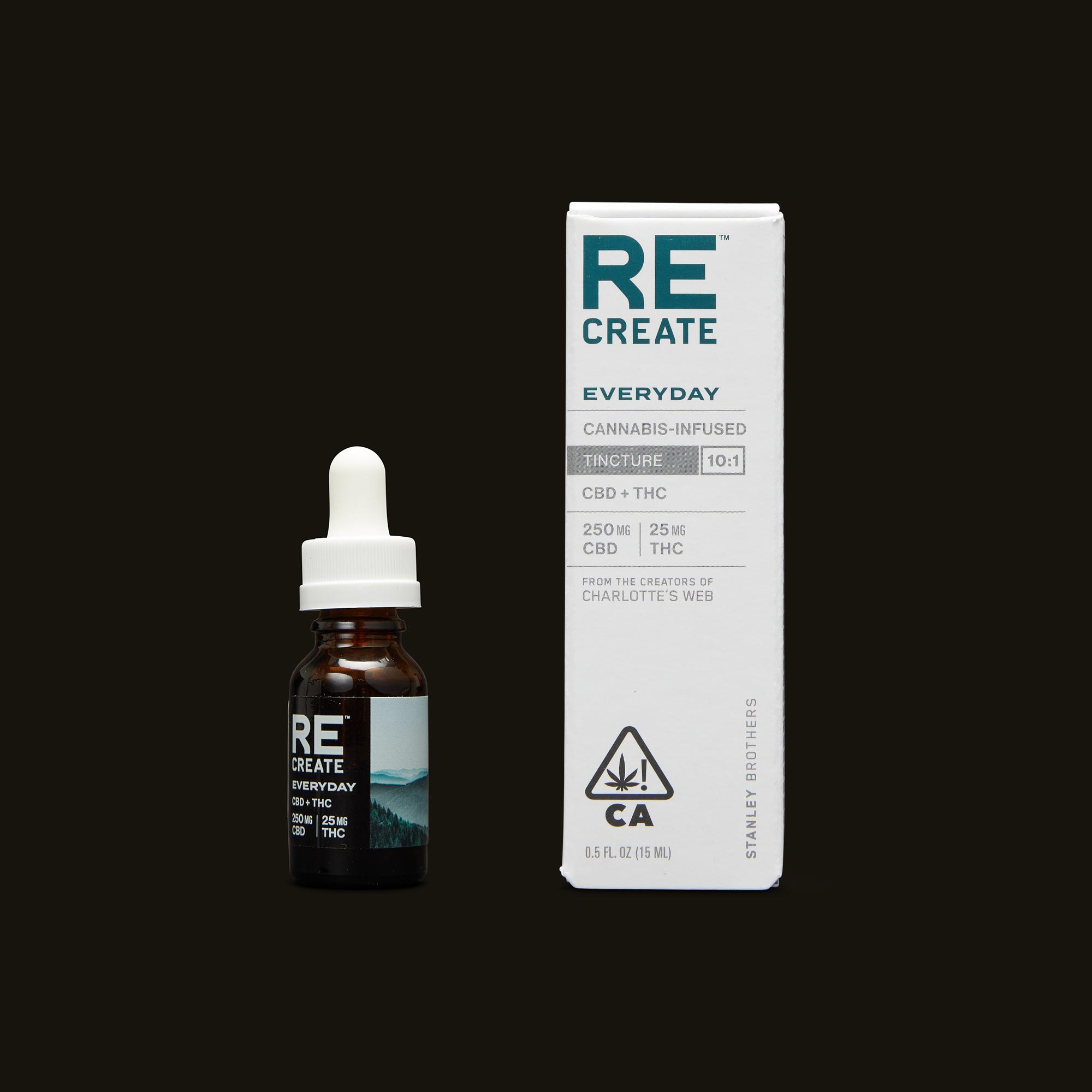 ReCreate Everyday Tincture - 15ml Tincture and Packaging