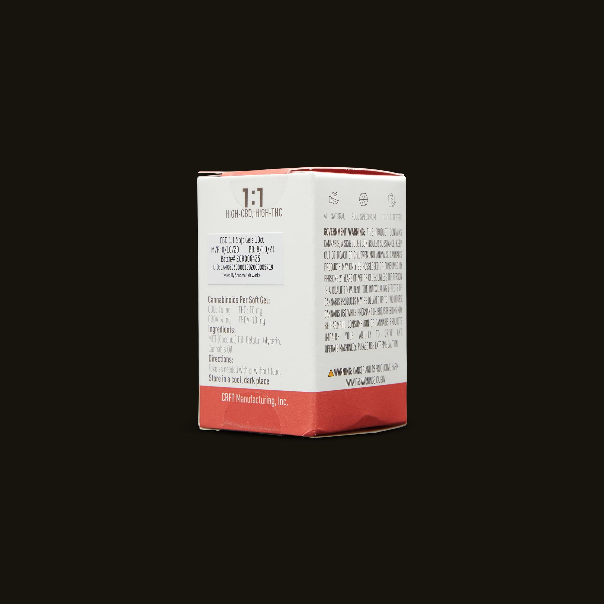 Care By Design 1:1 Soft Gels 10-Pack Ingredients