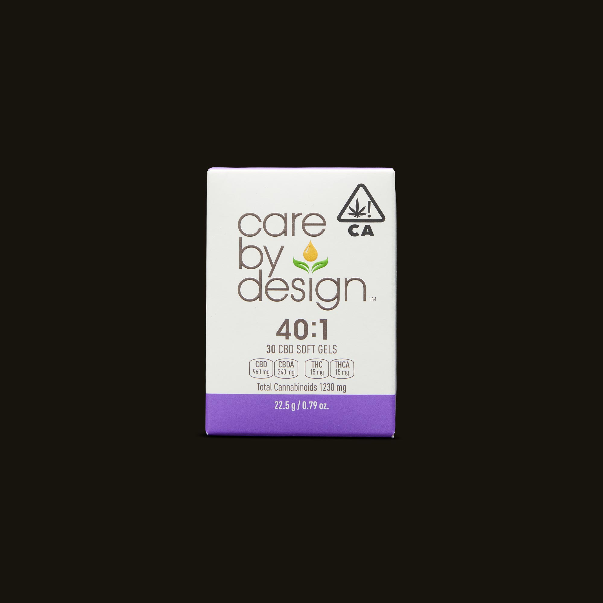 Care By Design 40:1 Soft Gels 30-Pack Front Packaging