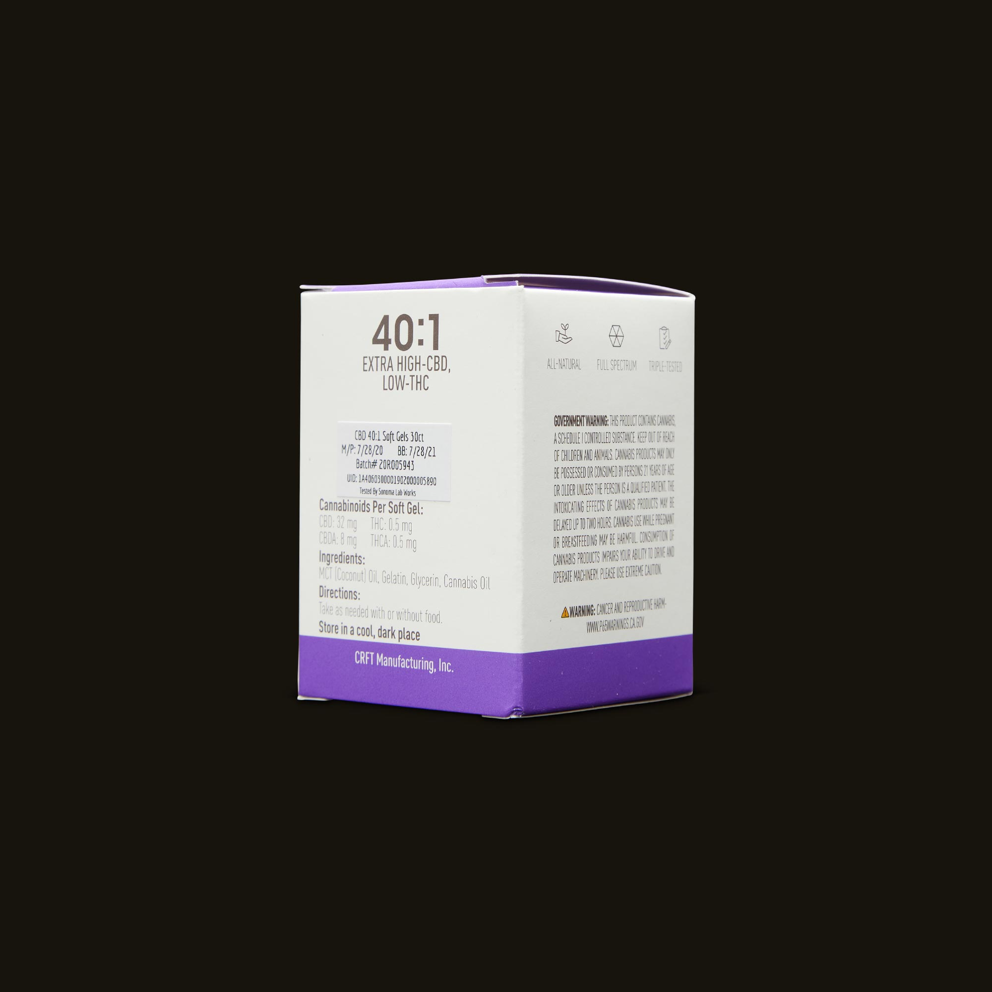 Care By Design 40:1 Soft Gels 30-Pack Ingredients