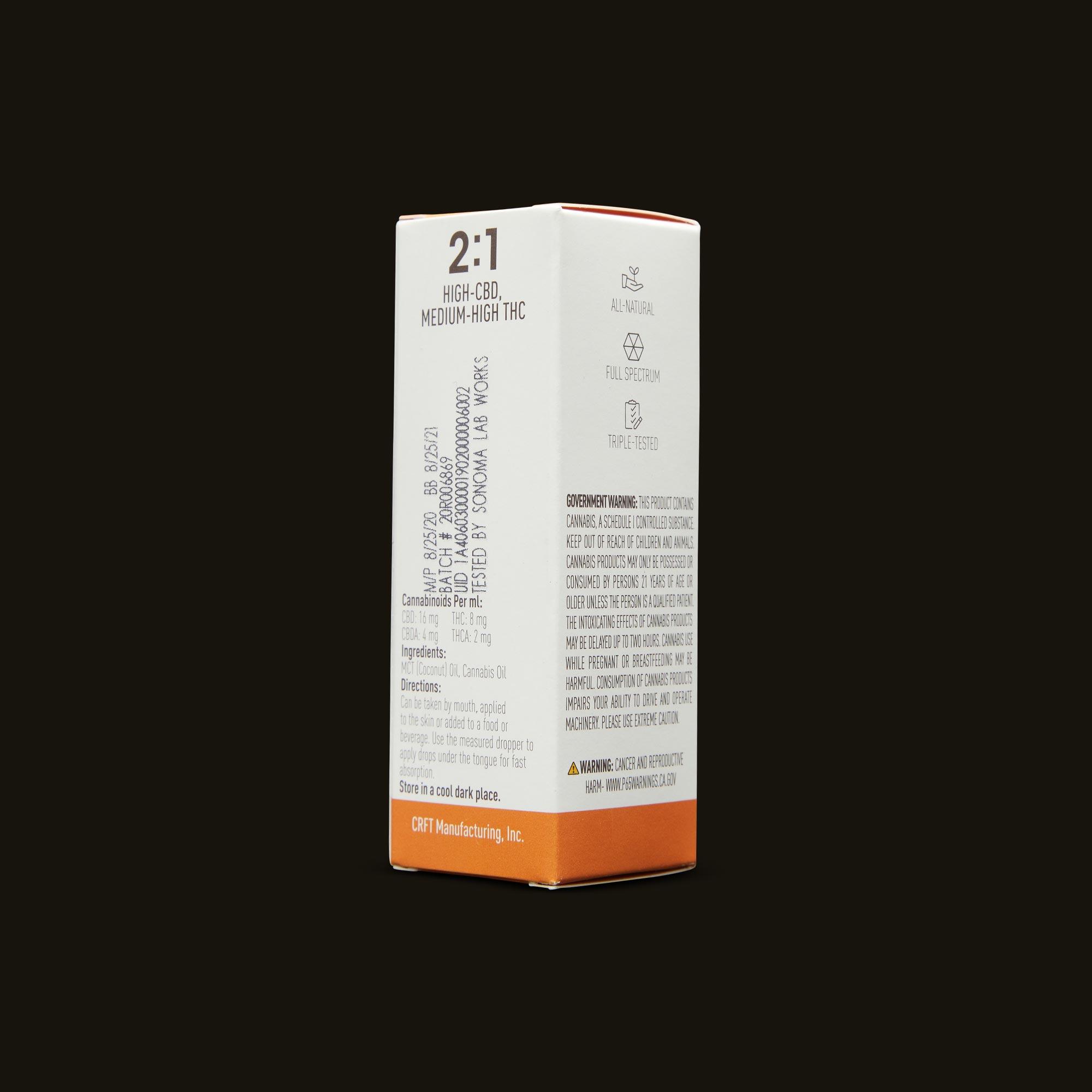 Care By Design 2:1 Full Spectrum CBD Drops - 0.5oz Ingredients
