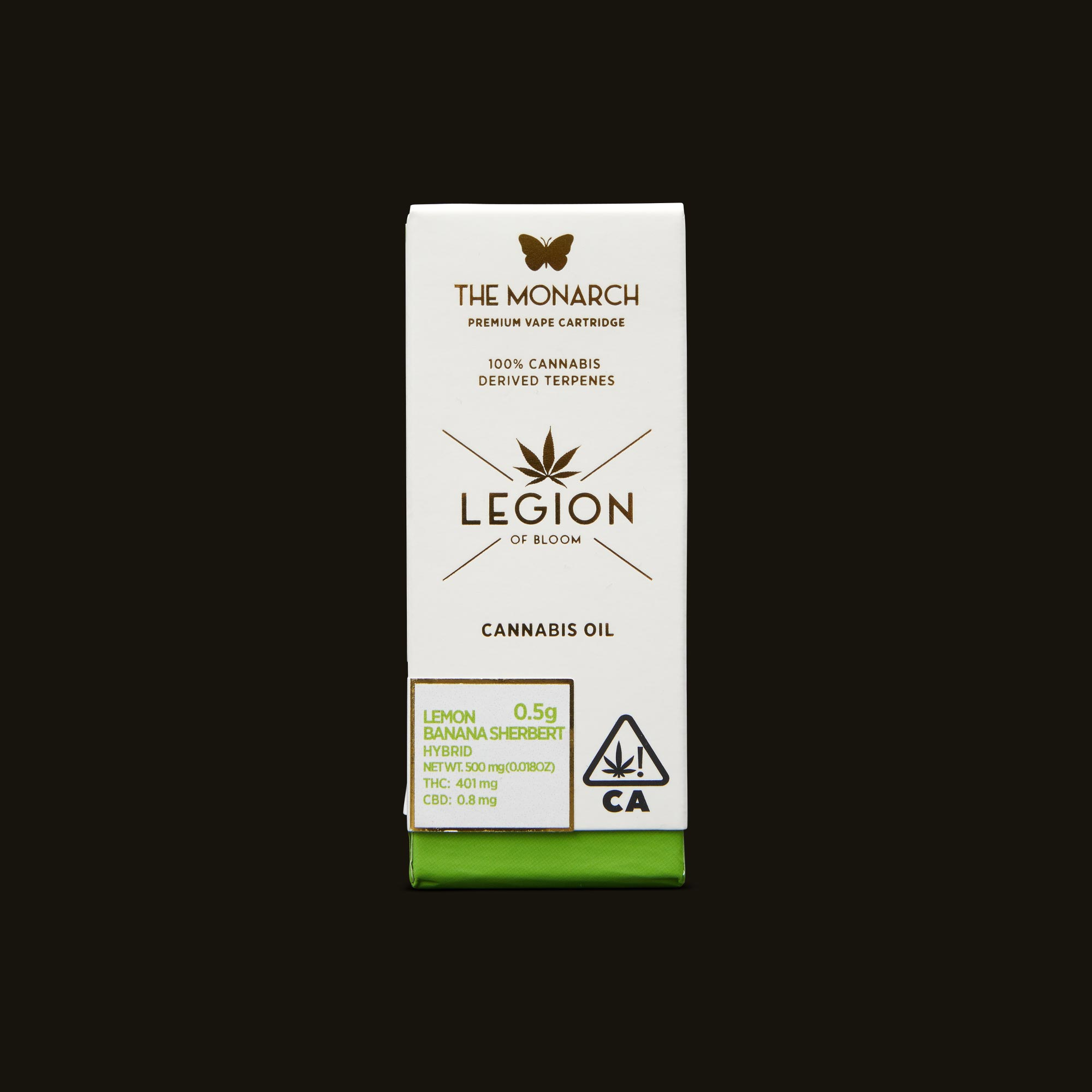 Legion of Bloom Lemon Banana Sherbert Monarch .5g Front Packaging