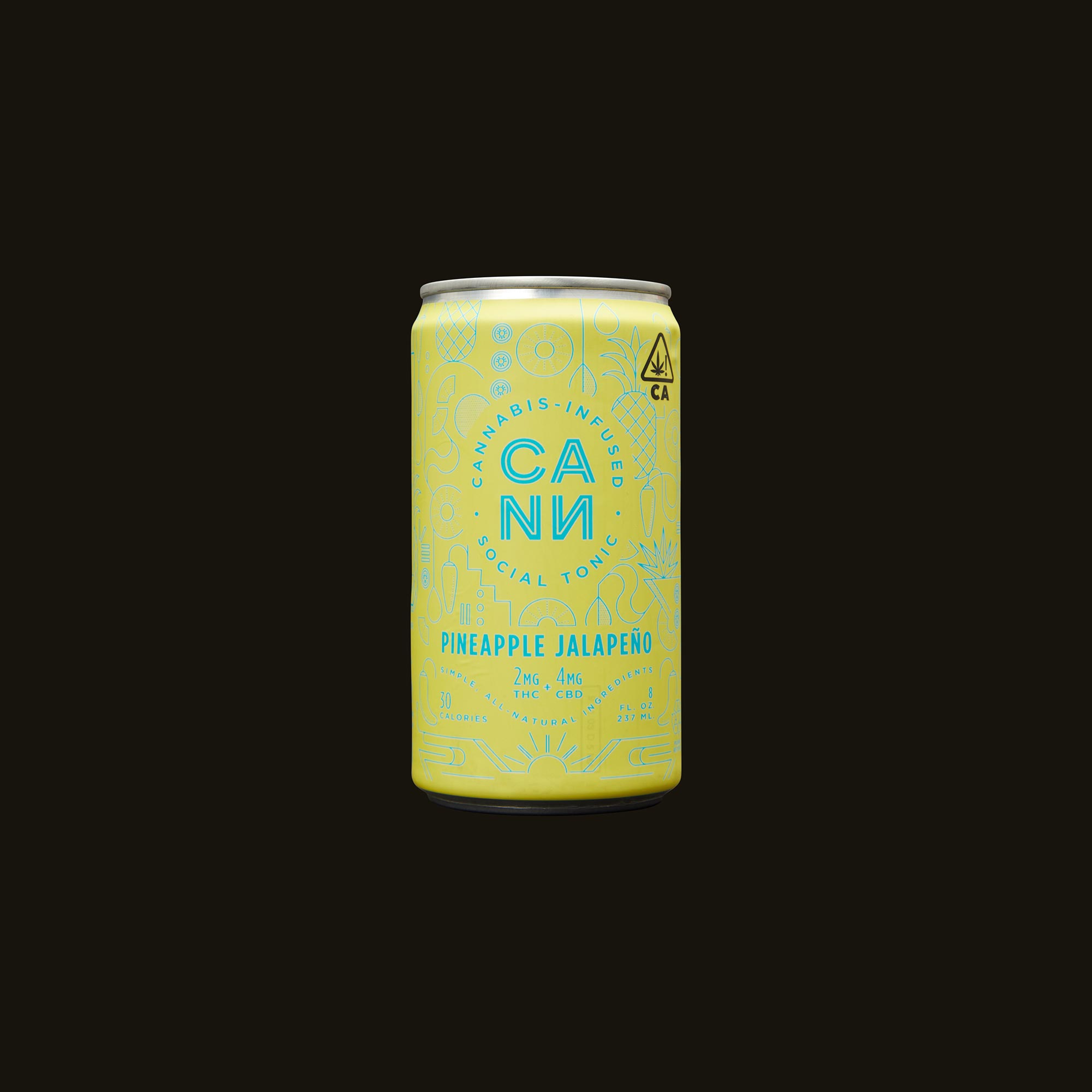 Cann Pineapple Jalapeno Social Tonic Front Can
