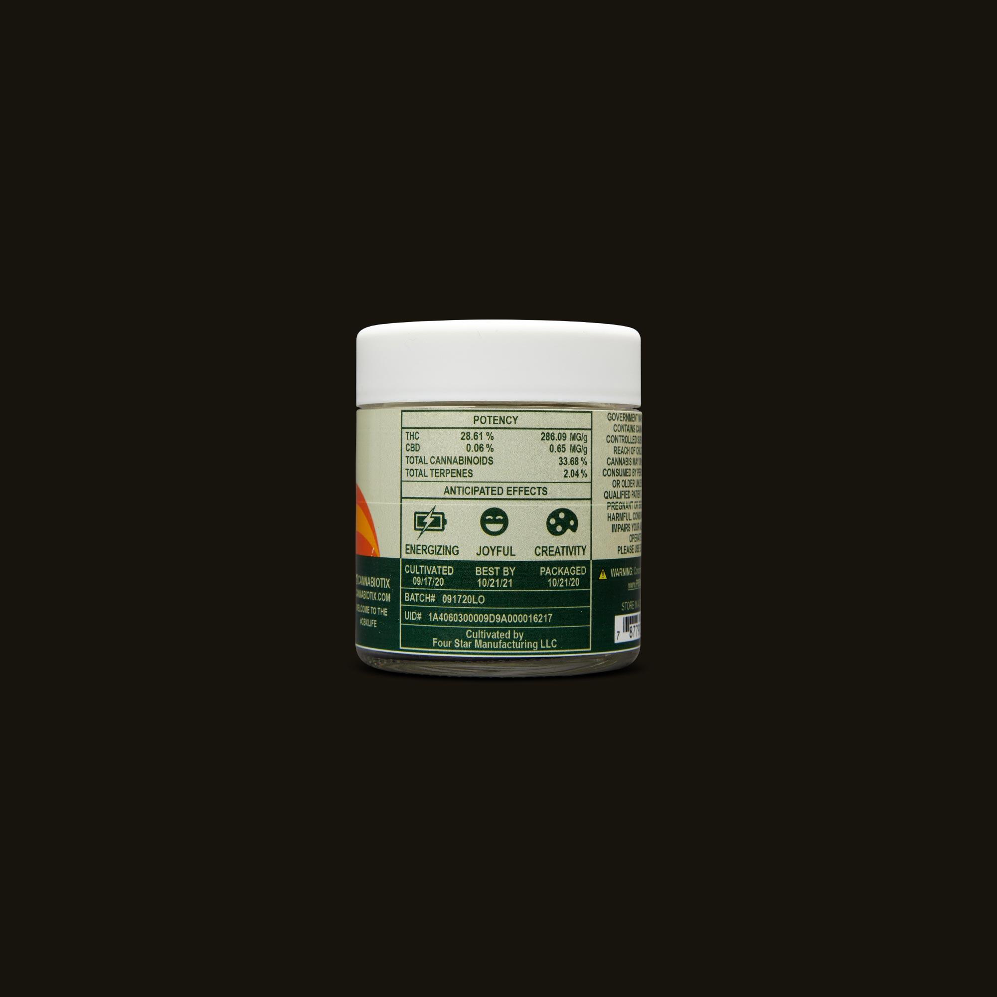 Cannabiotix (CBX) L'Orange Ingredients