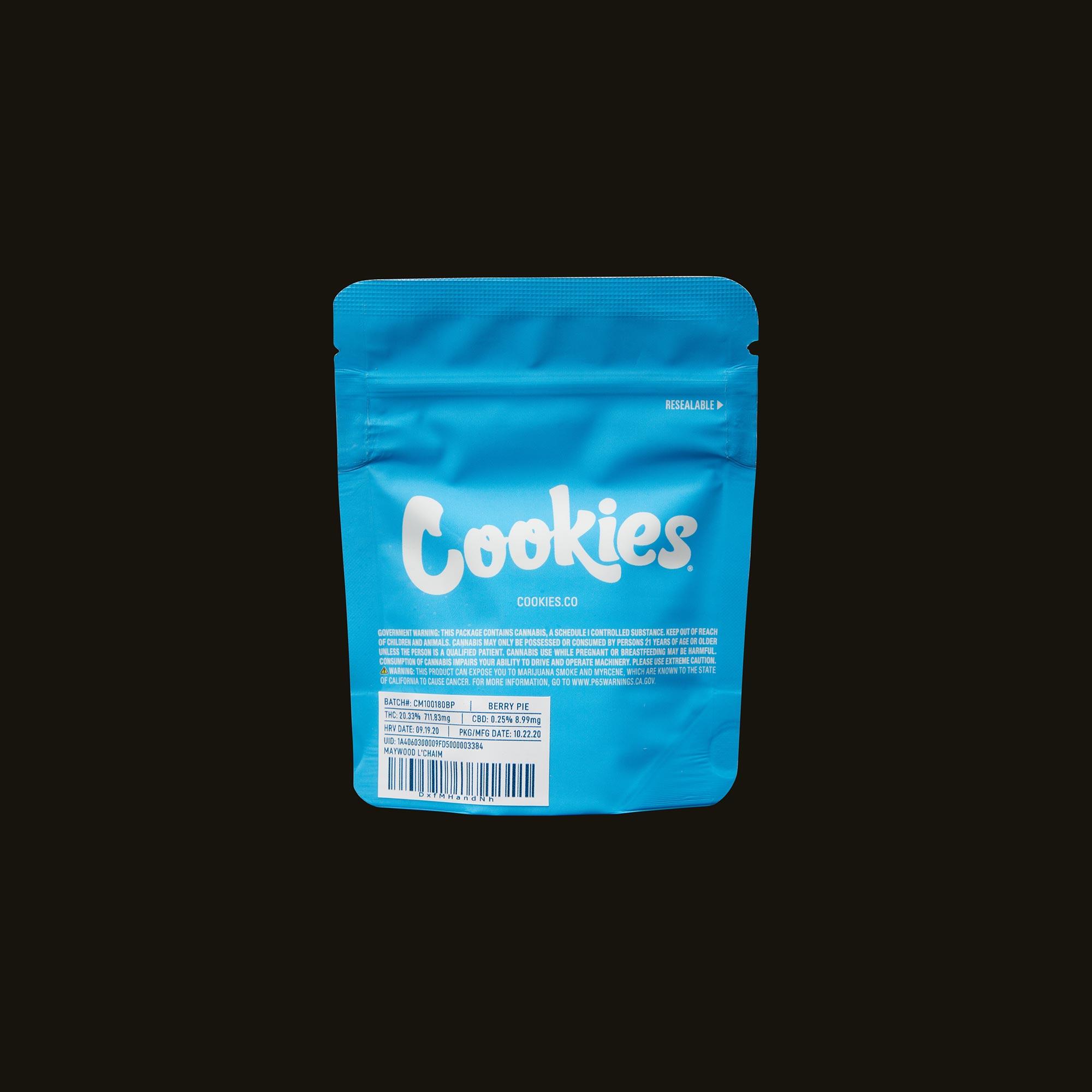 Cookies Berry Pie Back Packaging