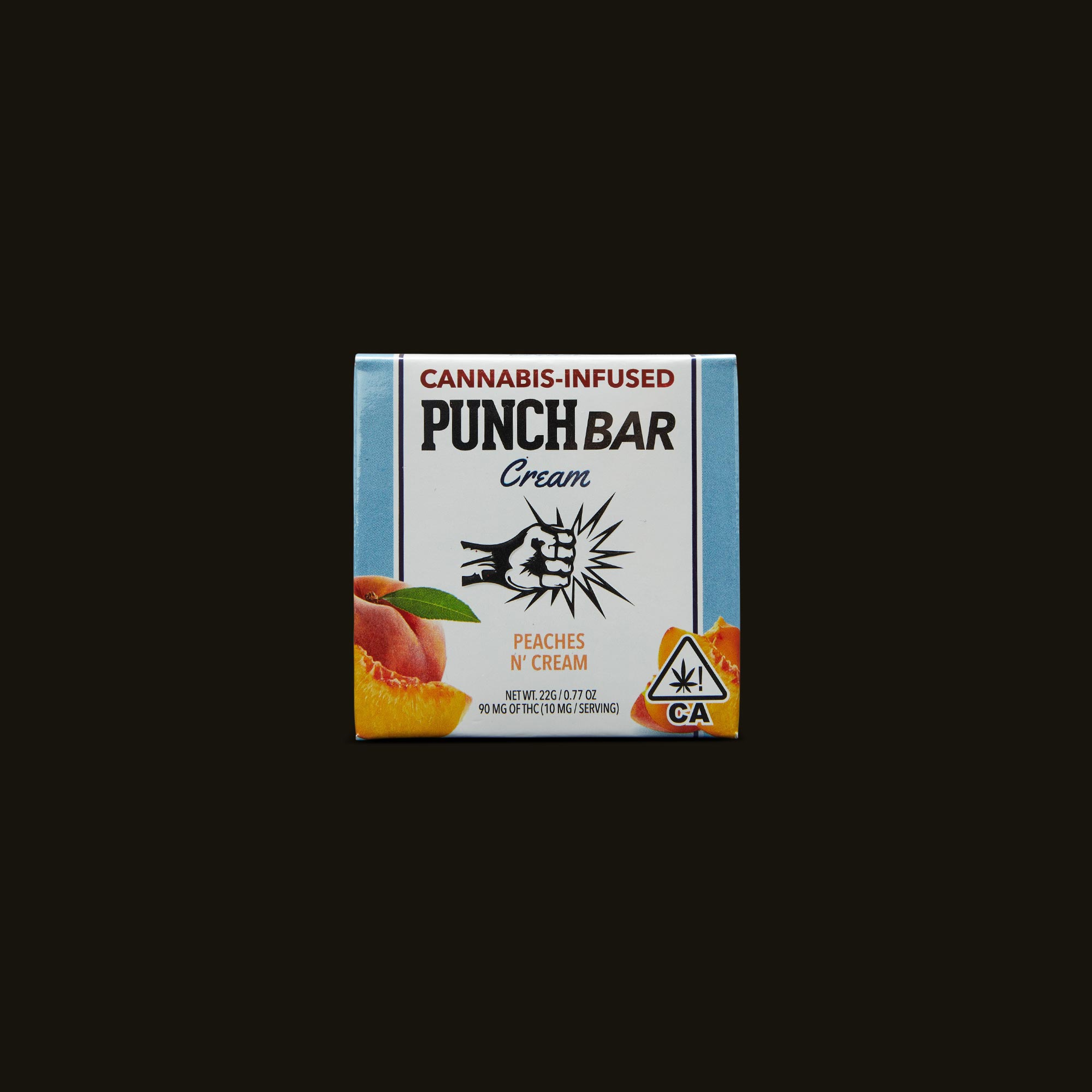 Punch Edibles PUNCH BAR Peaches N' Cream Front Packaging