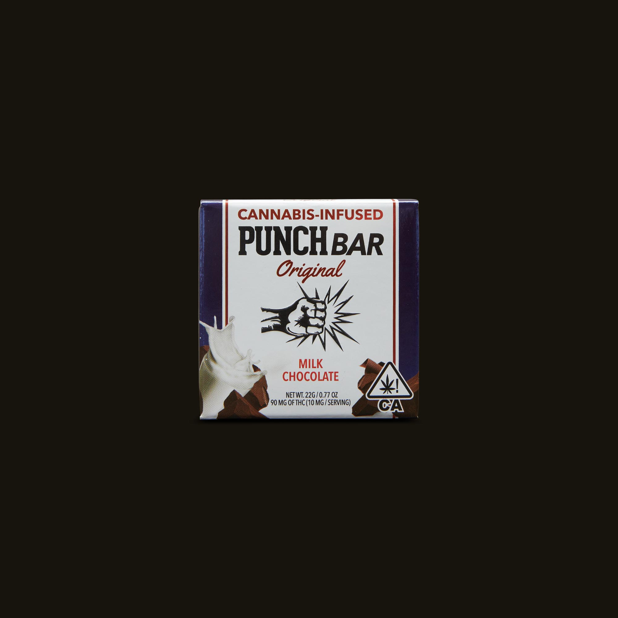 Punch Edibles PUNCH BAR Milk Chocolate Front Packaging